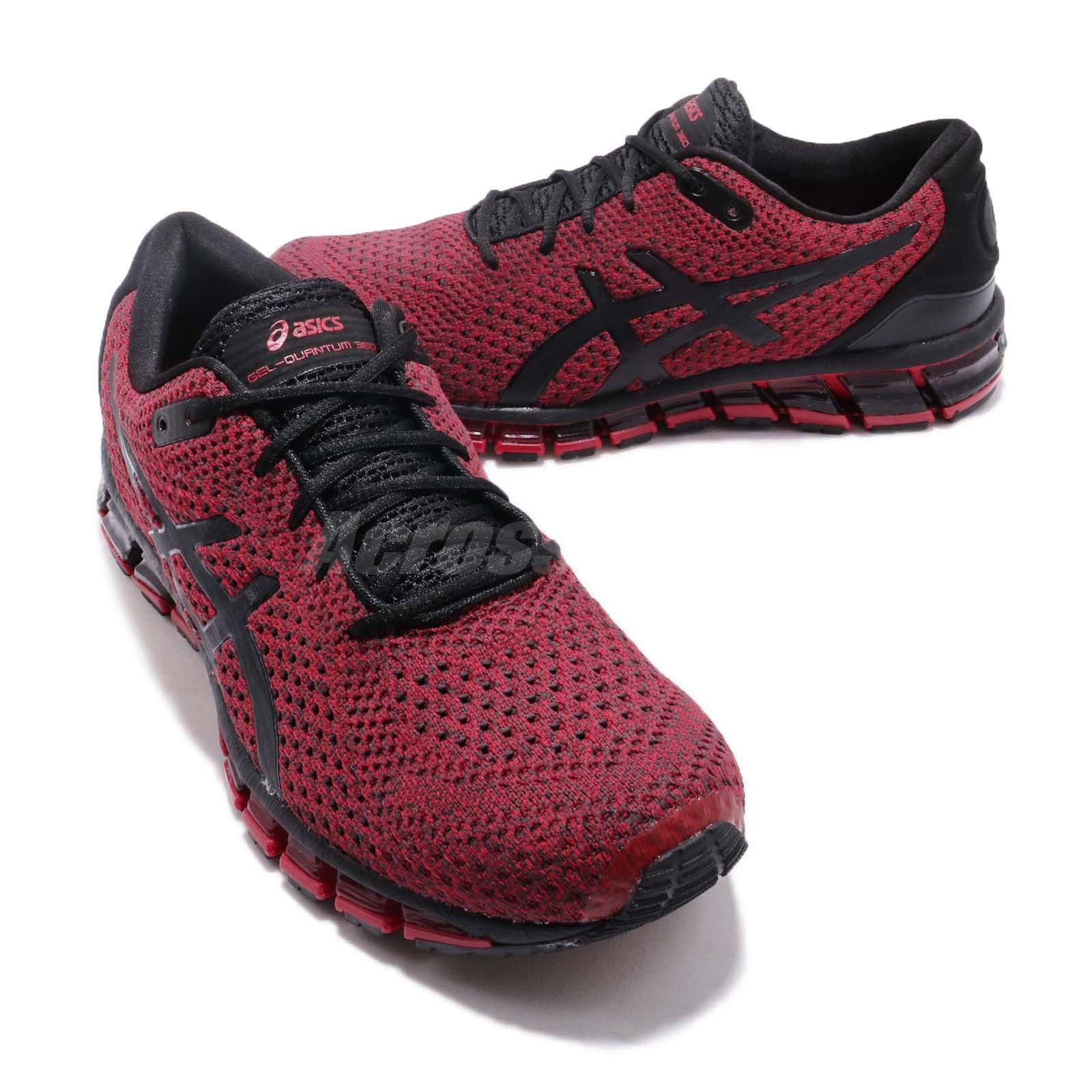 detailed look 95f74 621be Details about Asics Gel-Quantum 360 Knit 2 Black Samba Red Men Running  Shoes Sneaker T8G3N-001