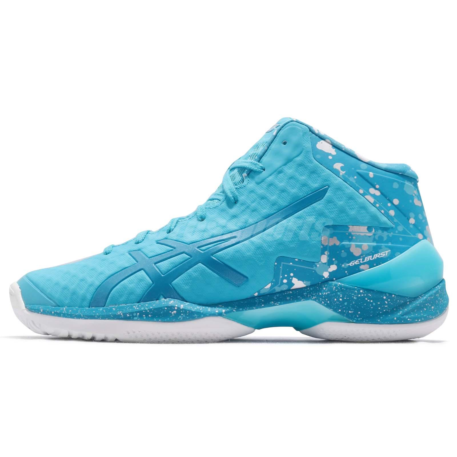 Asics Gel-burst 21 Ge Hi Aqua Island Blue Men Basketball Shoes Tbf30g-3941 Men's Shoes