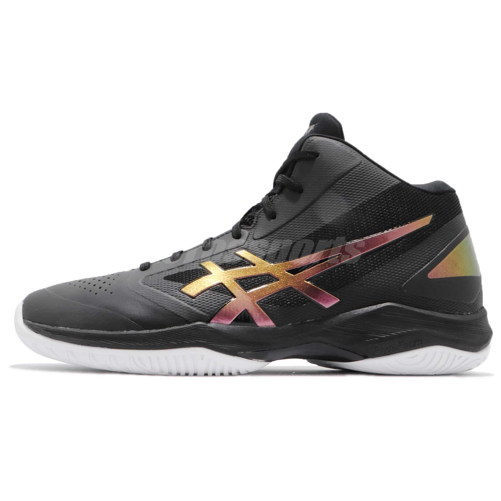 c08beecc898e Asics Gel-Hoop V 10 Wide Black Prism Fire Red Men Basketball Shoes  TBF340-9026