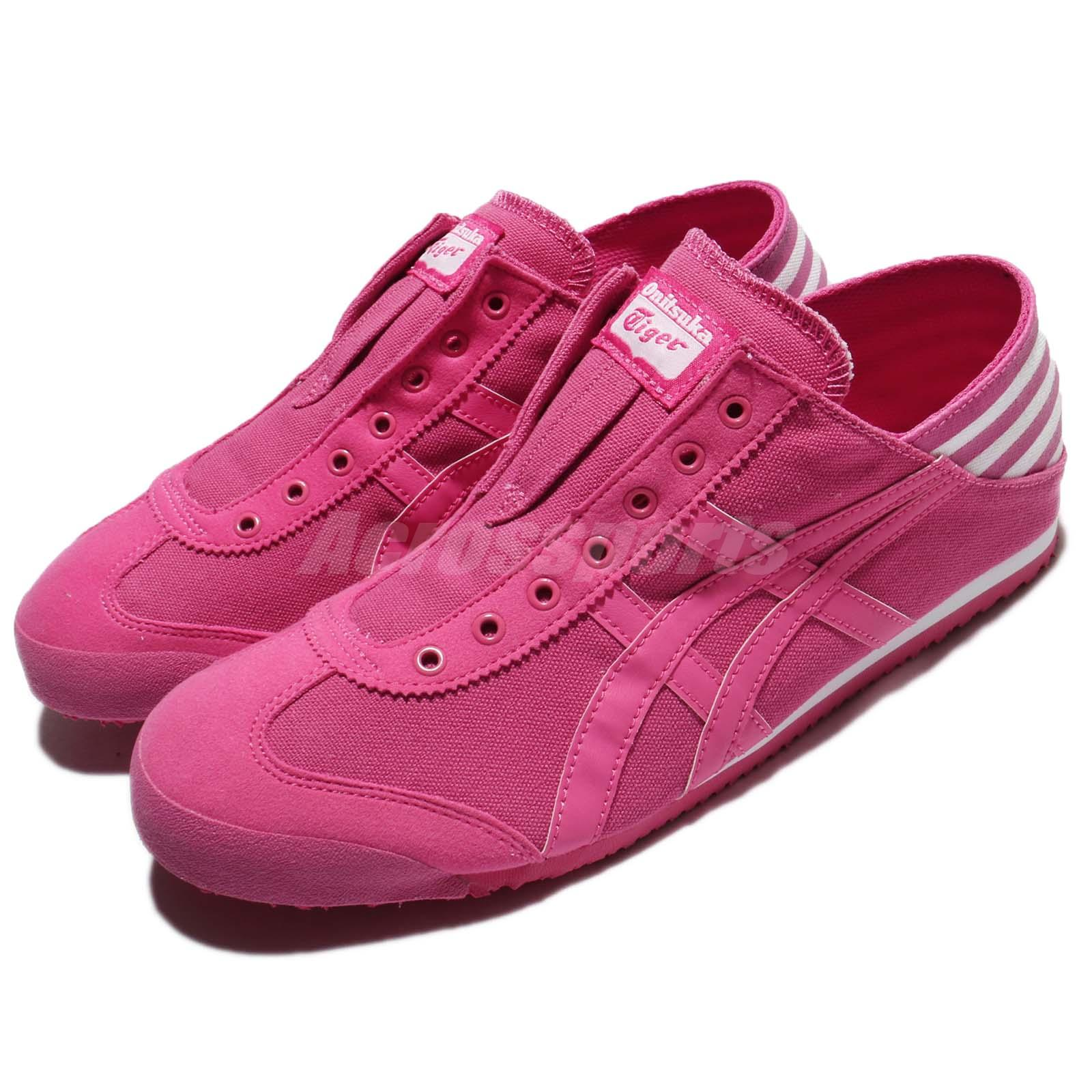 7316cfb0c9 Details about Asics Onitsuka Tiger Mexico 66 Paraty Laceless Pink Canvas  Men Women TH5J4Q-1919