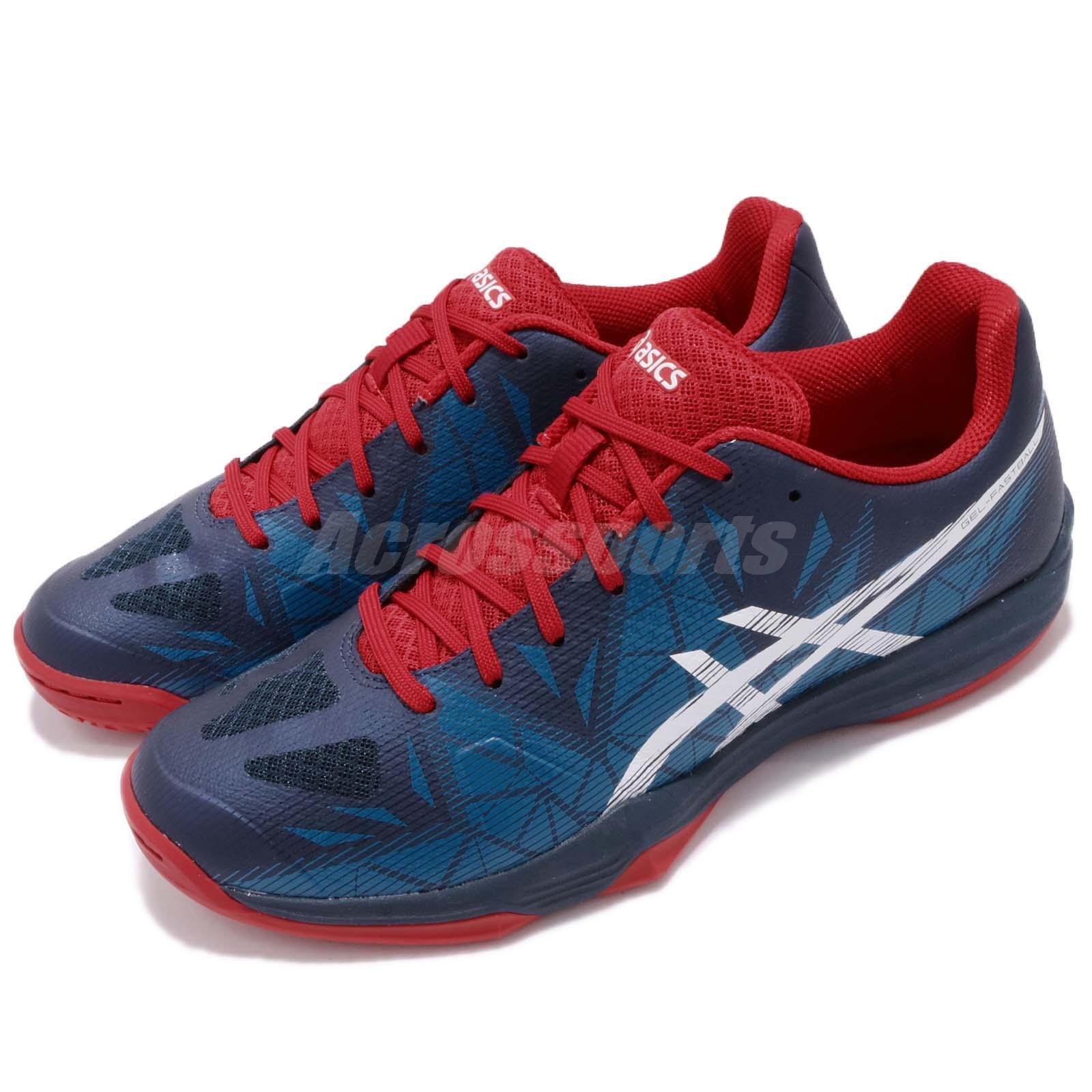 Asics Gel Fastball 3 Blue Red Handball Volleyball Badminton Shoes THH546 5001