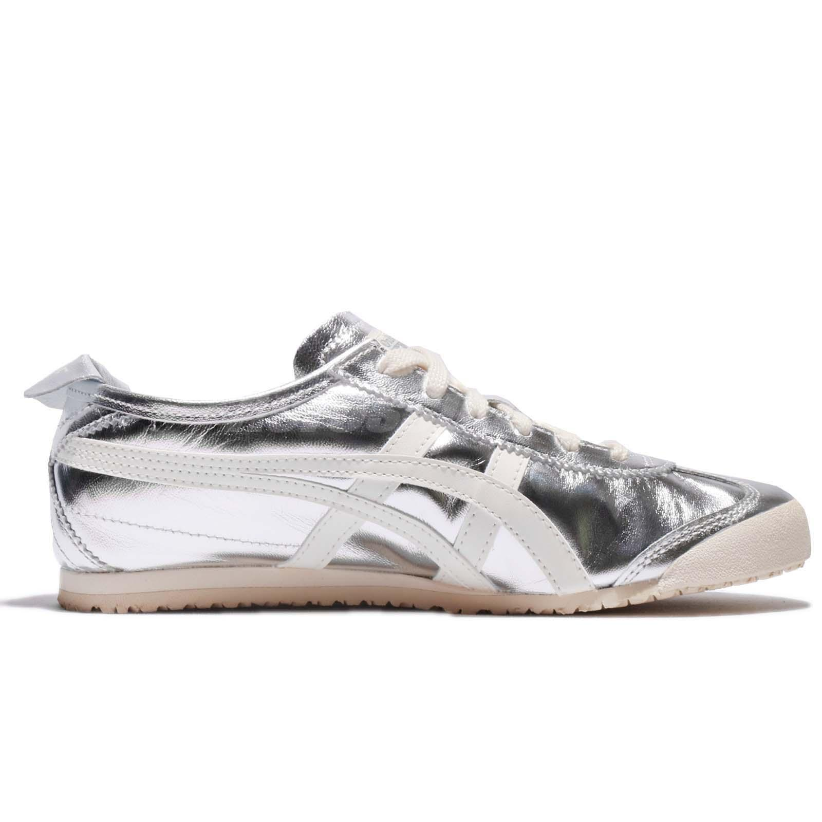 best service ad401 fe59c Details about Asics Onitsuka Tiger Mexico 66 Patent Leather Silver Off  White Men THL7C2-9399