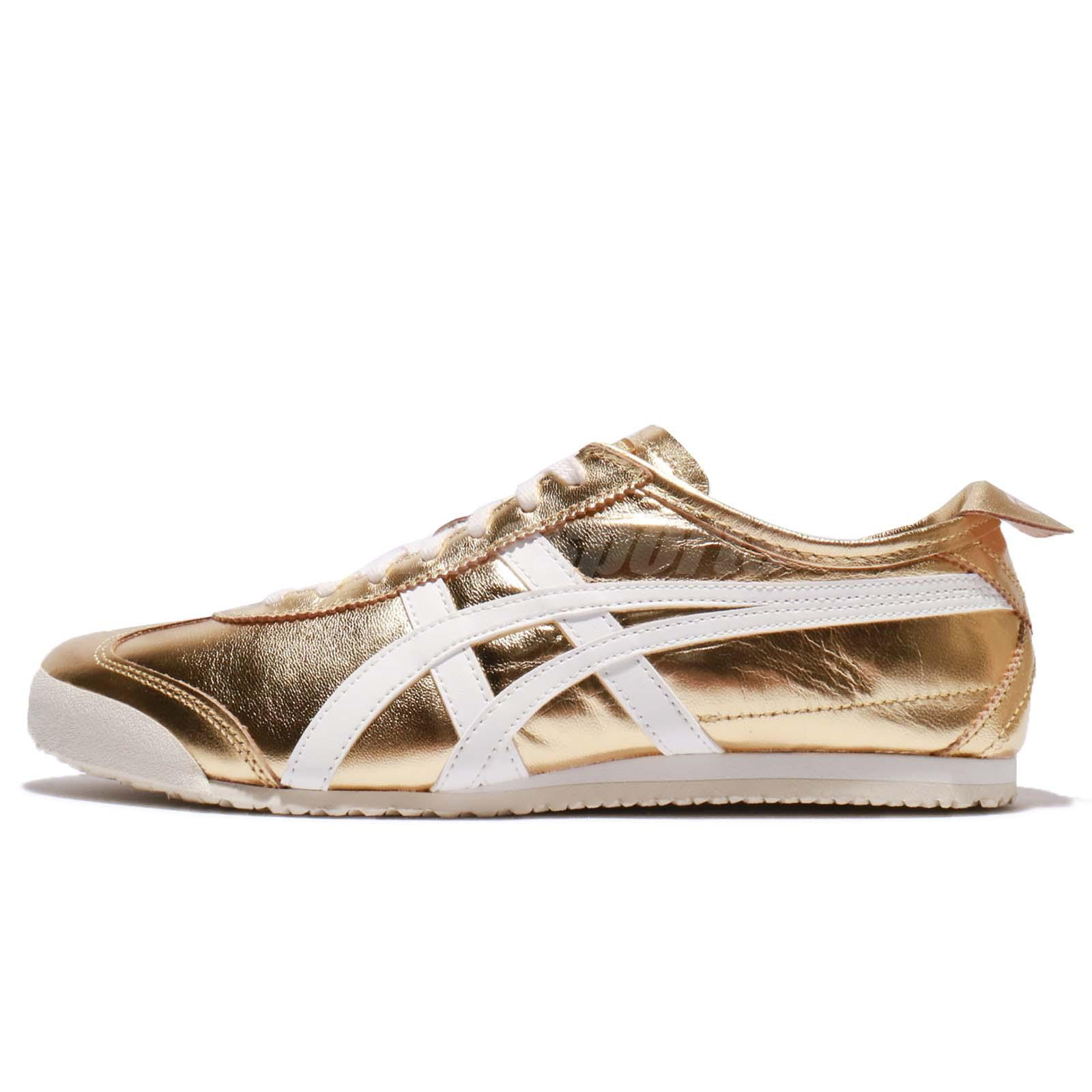 premium selection 00355 e85c1 Details about Asics Onitsuka Tiger Mexico 66 Gold White Men Casual Shoes  Sneakers THL7C2-9401