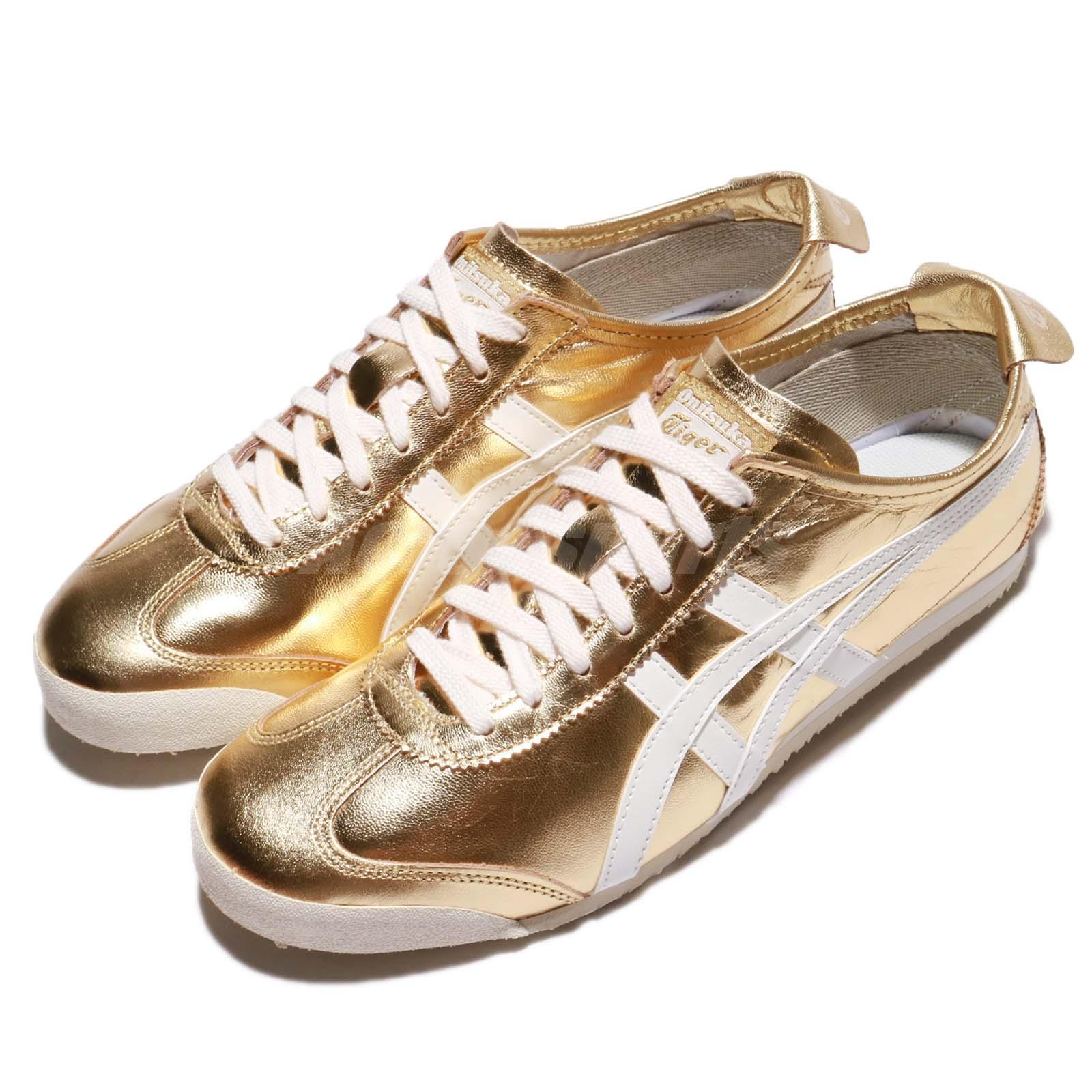 Details about Asics Onitsuka Tiger Mexico 66 Gold White Men Casual Shoes Sneakers THL7C2-9401