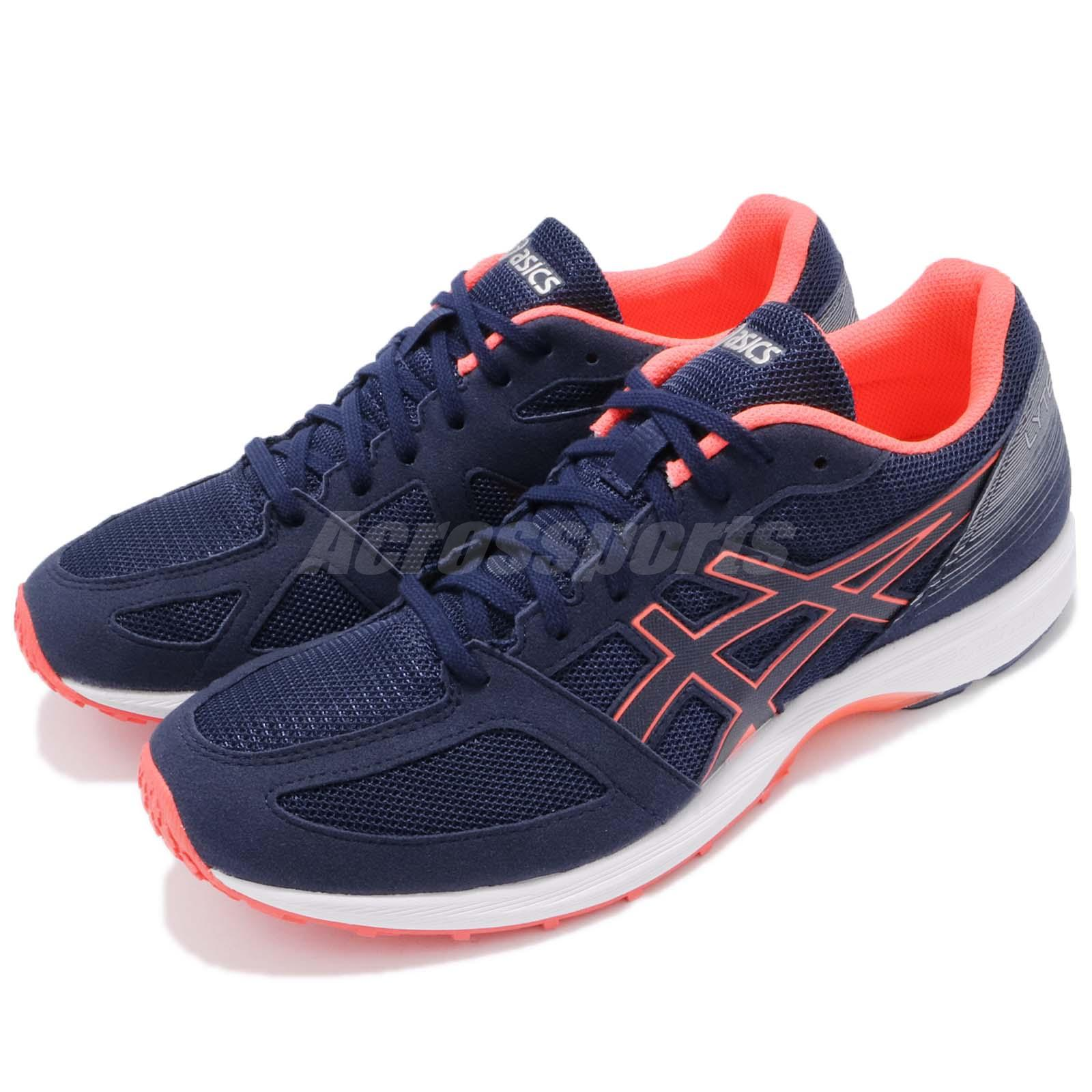 Asics Lyteracer TS Indigo Blue Orange Men Running Shoes Sneakers TJL436 4949