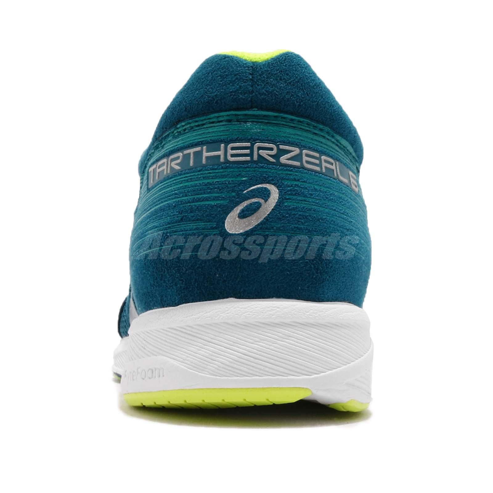 8f2bcb2cf2b4 Asics Tartherzeal 6 Wide Deep Aqua Volt White Men Running Shoes ...