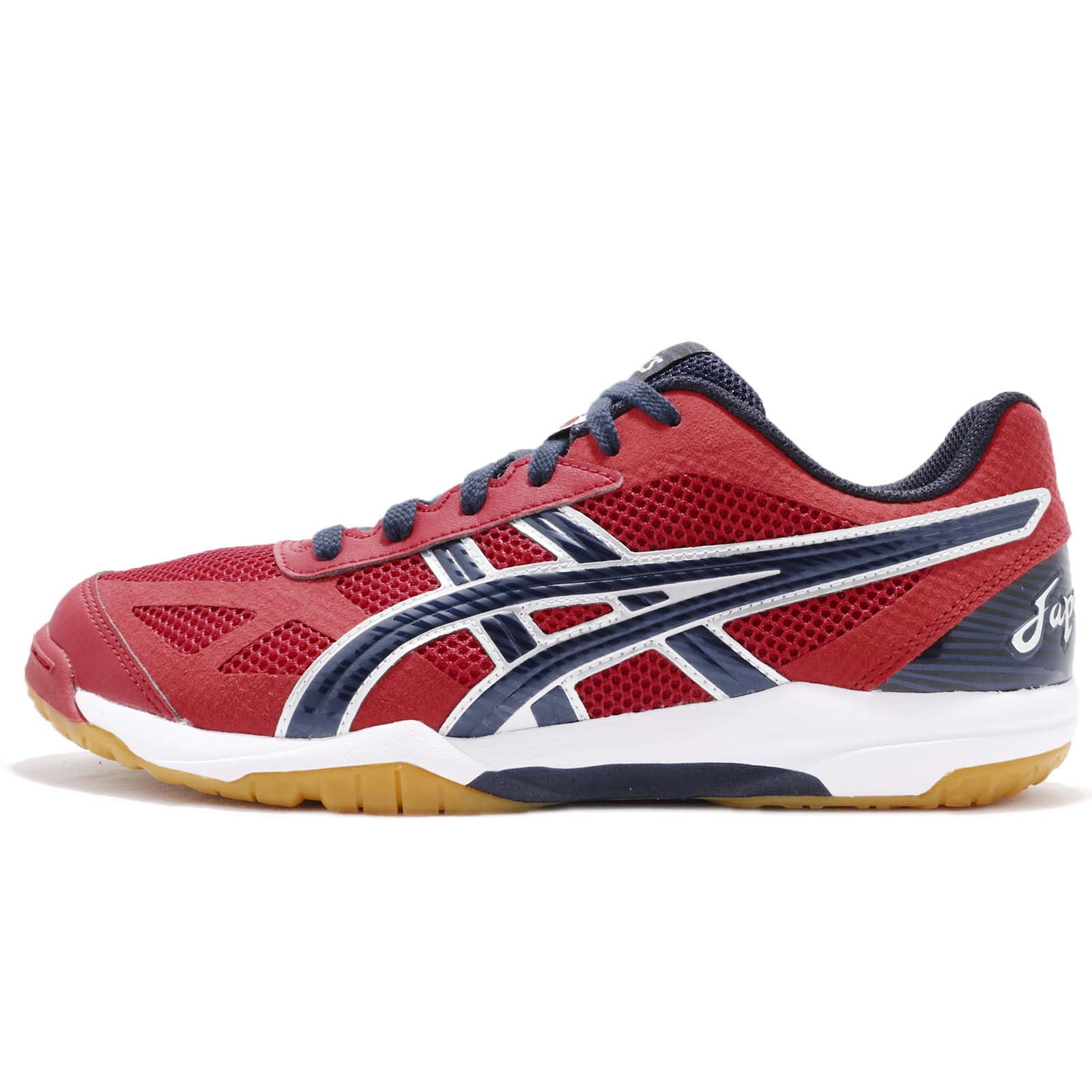 b0373407ae80 Asics Rote Japan Light Red Peacoat Men Volleyball Badminton Shoes  TVR490-2358