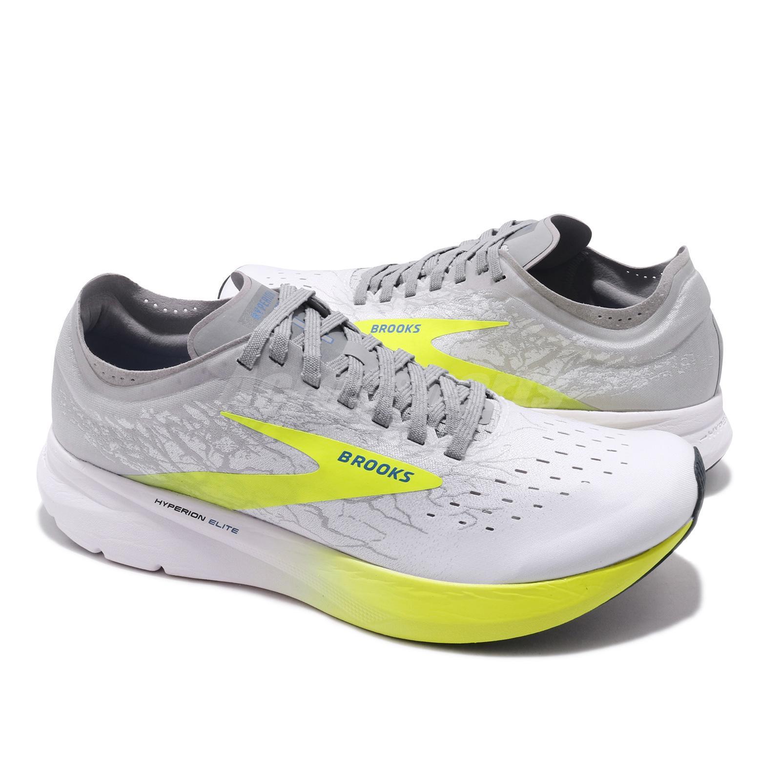 Brooks Hyperion Elite Carbon Grey Yellow White Men Running Shoes 100032 1D