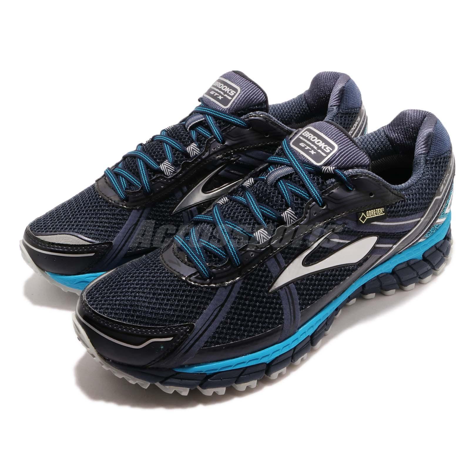 9b45bfda6e7e6 Details about Brooks Adrenaline ASR 12 GTX Gore-Tex Peacoat Blue Men  Running Shoes 110203 1D