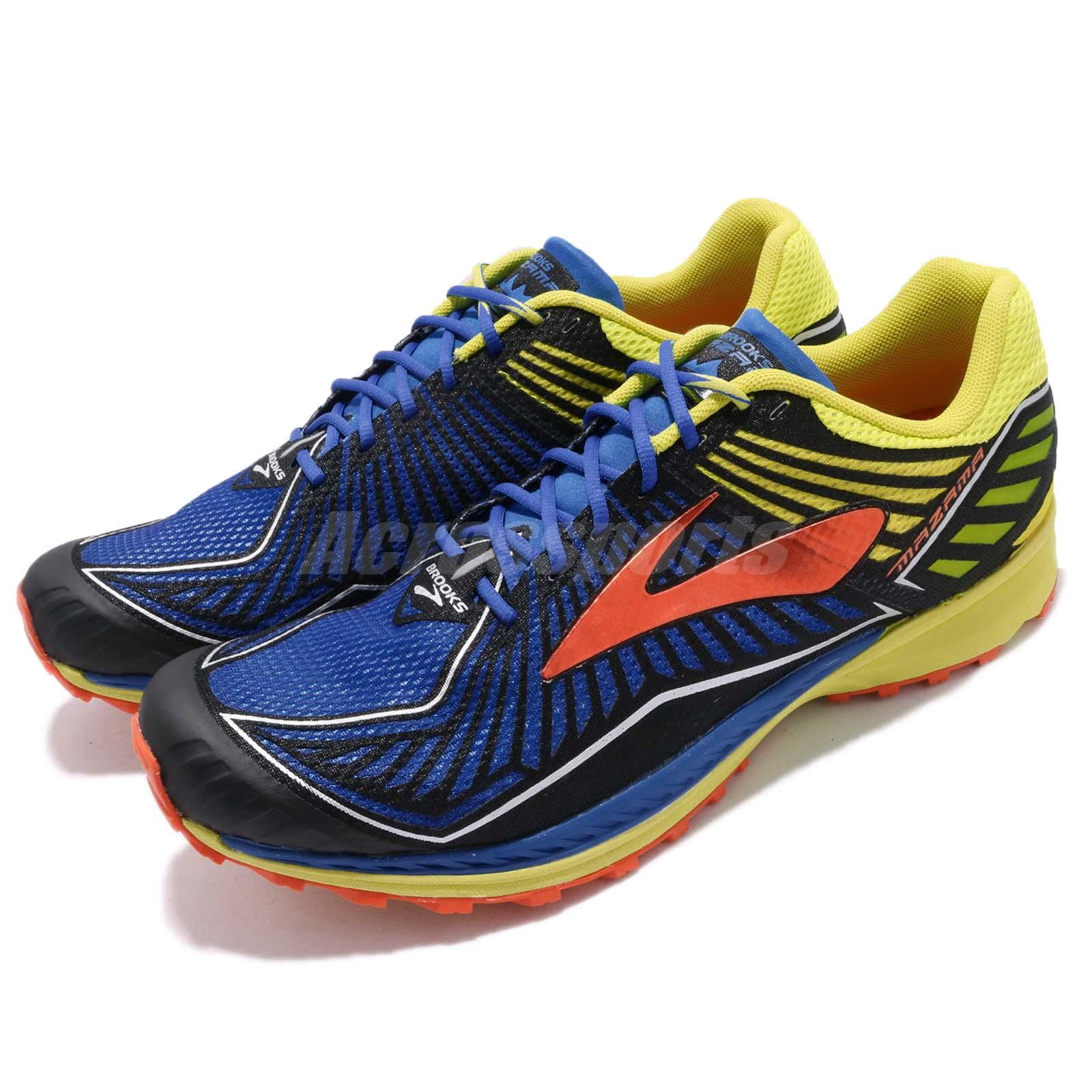 ebade612dcce1 Details about Brooks Mazama D Blue Yellow Bronze Men Trail Running Shoes  Sneakers 1102351 D