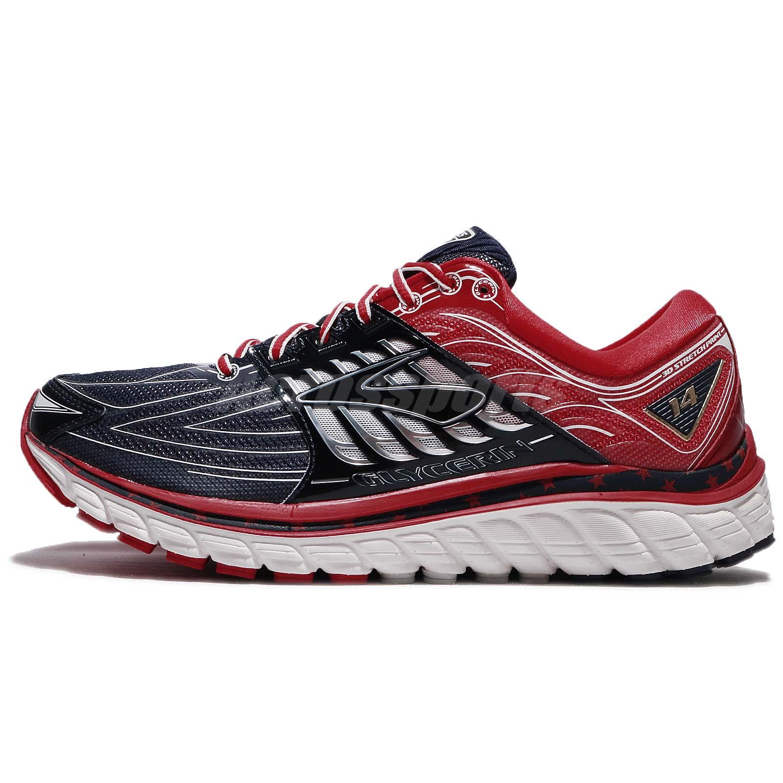 Brooks Glycerin 14 Olympic Victory Collection Navy Red Men Running 110236 1D