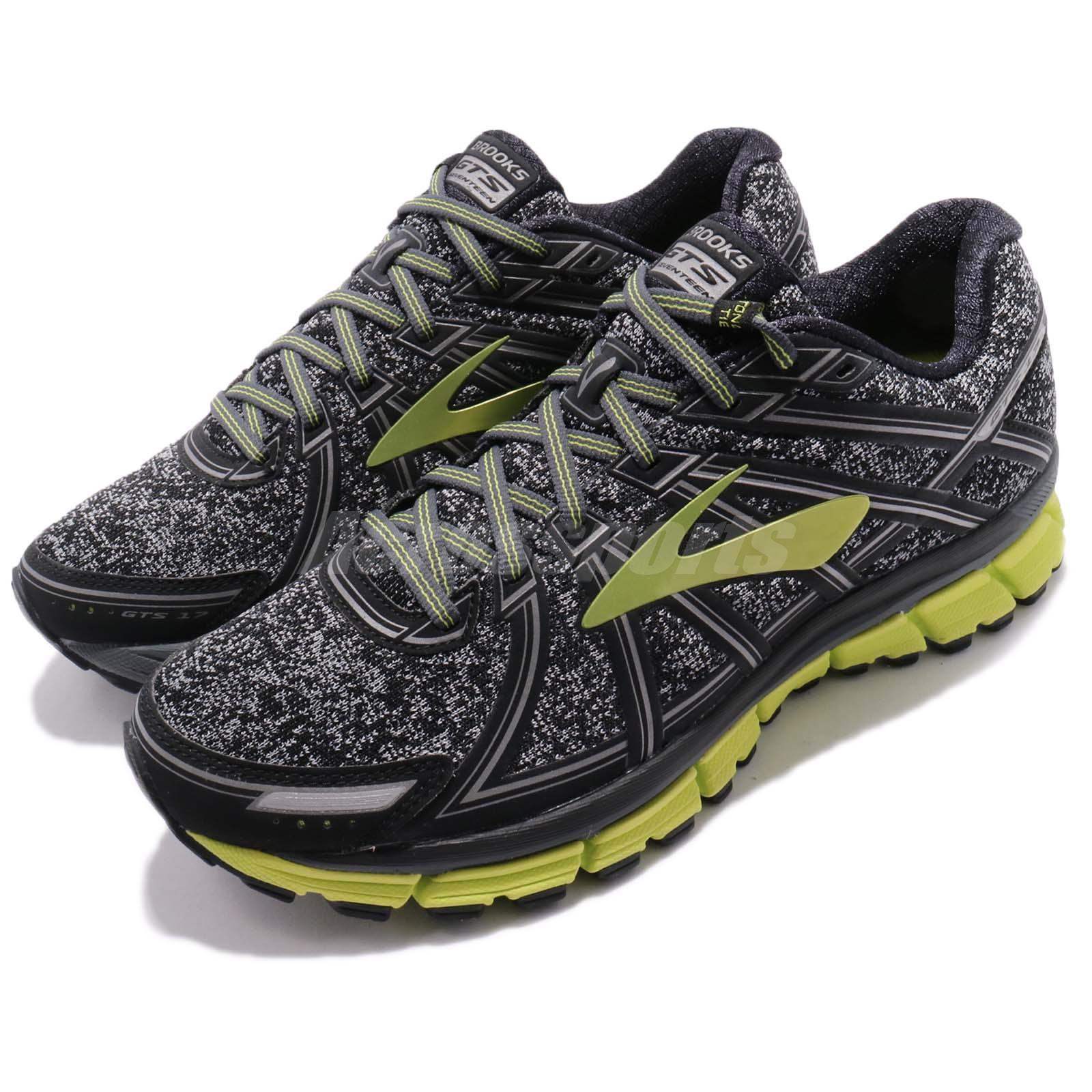 07ee229d4e5 Details about Brooks Adrenaline GTS 17 Metallic Charcoal Black Men Running  Shoes 1102411 D