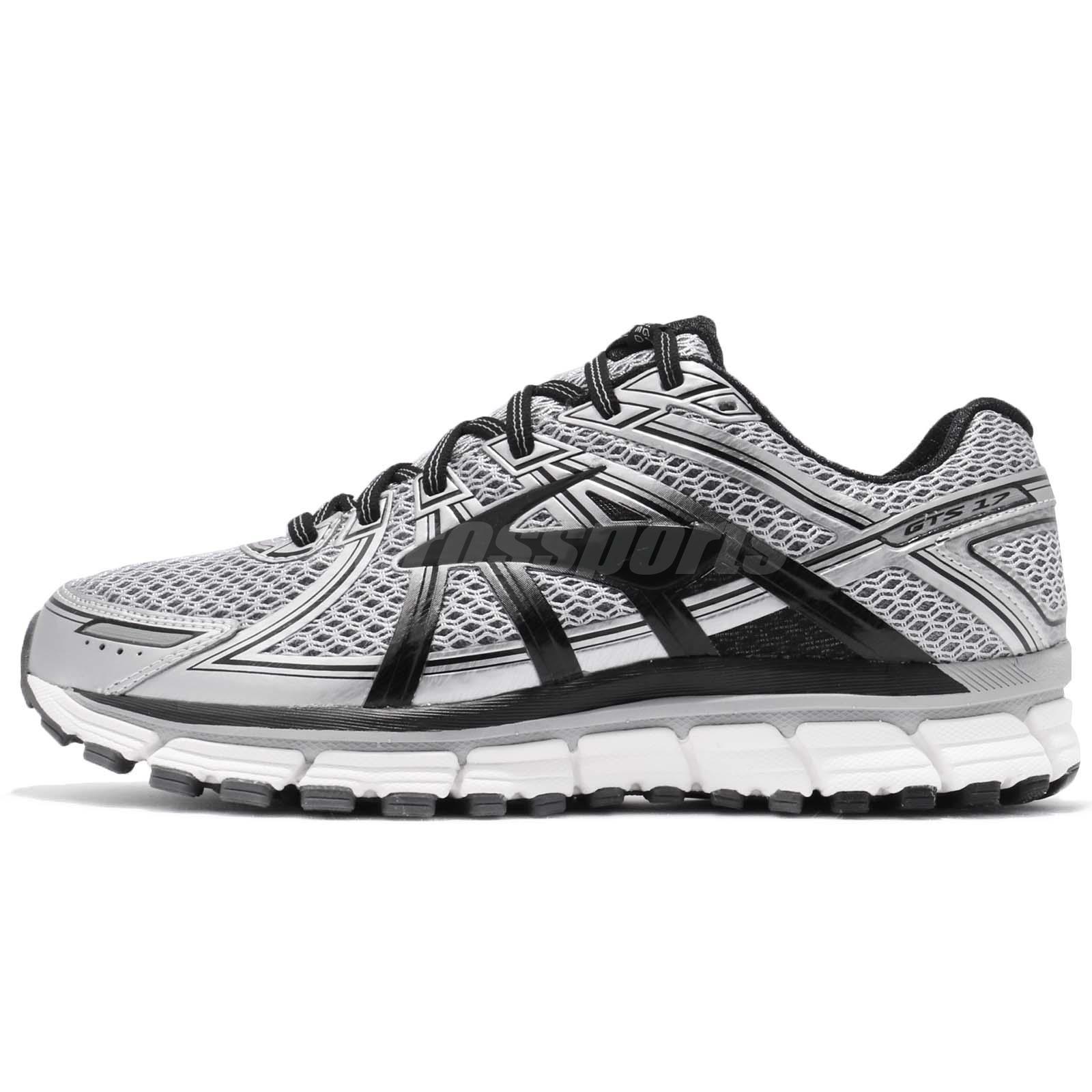 a4d0802e231 Brooks Adrenaline GTS 17 Silver Black Anthracite Men Running Shoes 1102411 D