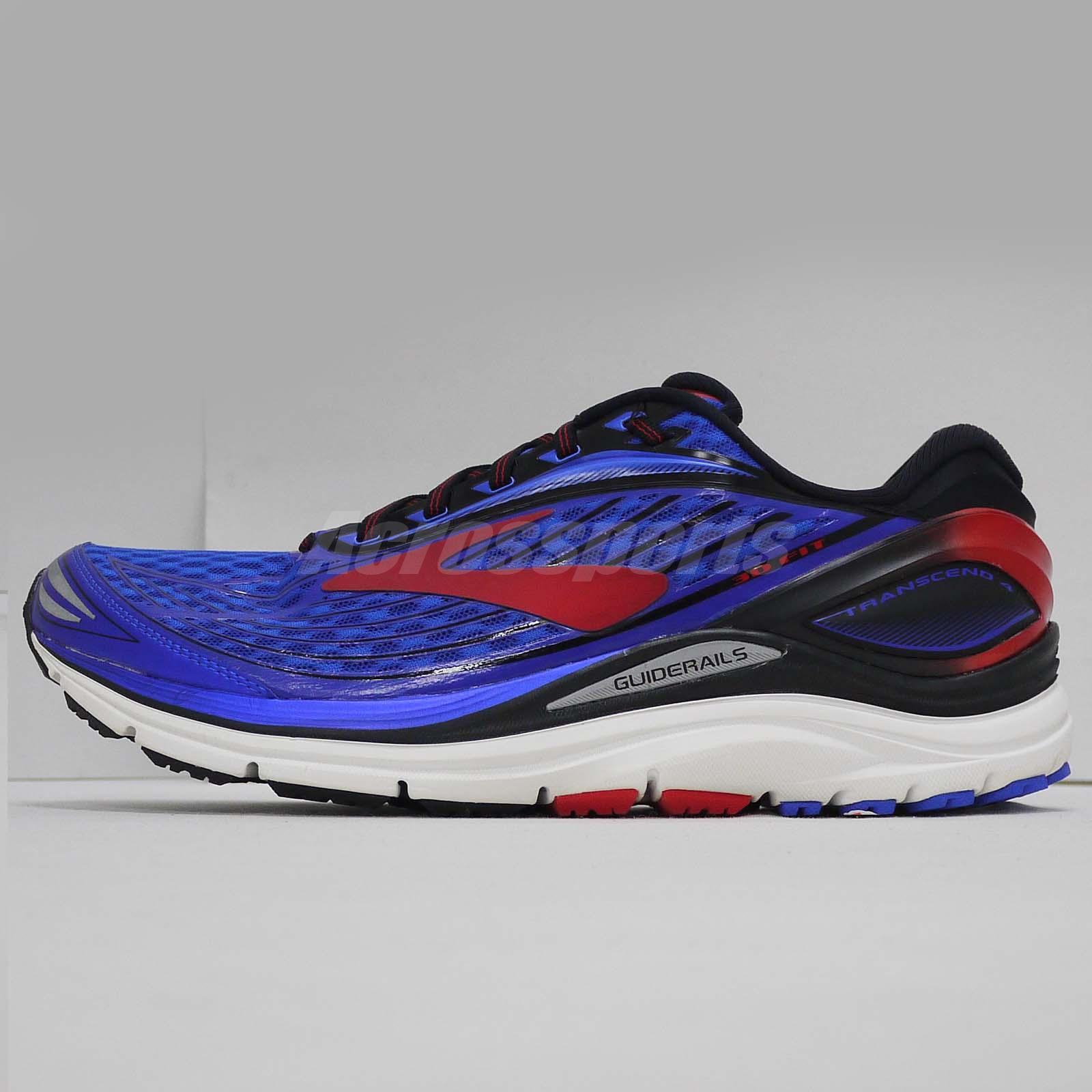74890fa22ab Brooks Transcend 4 Blue Red Running Shoes Insole with some Stains 110249-1D