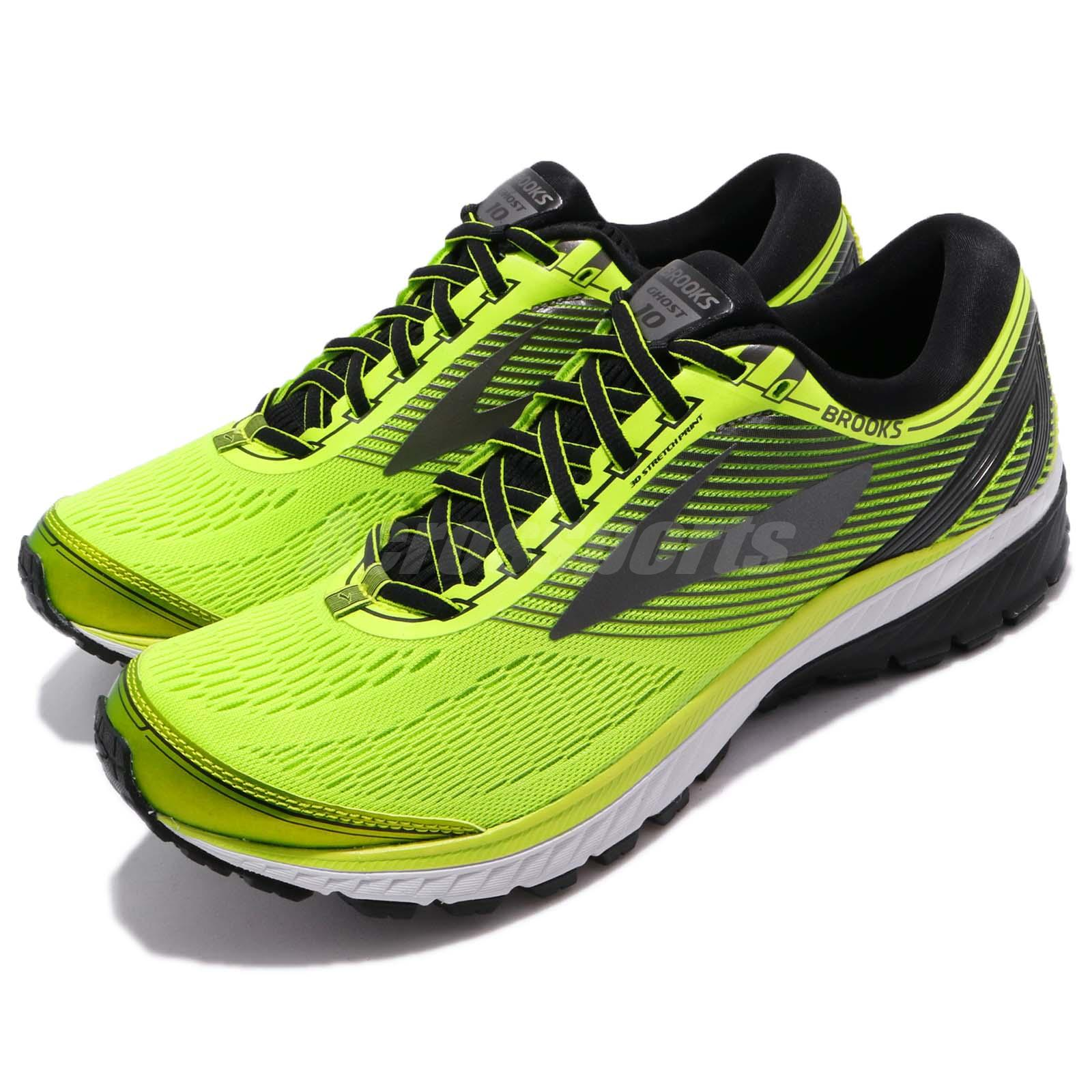 9c2bf3ed9a4 Details about Brooks Ghost 10 Neutral Lime Black Metallic Charcoal Volt Men  Running 110257 1D