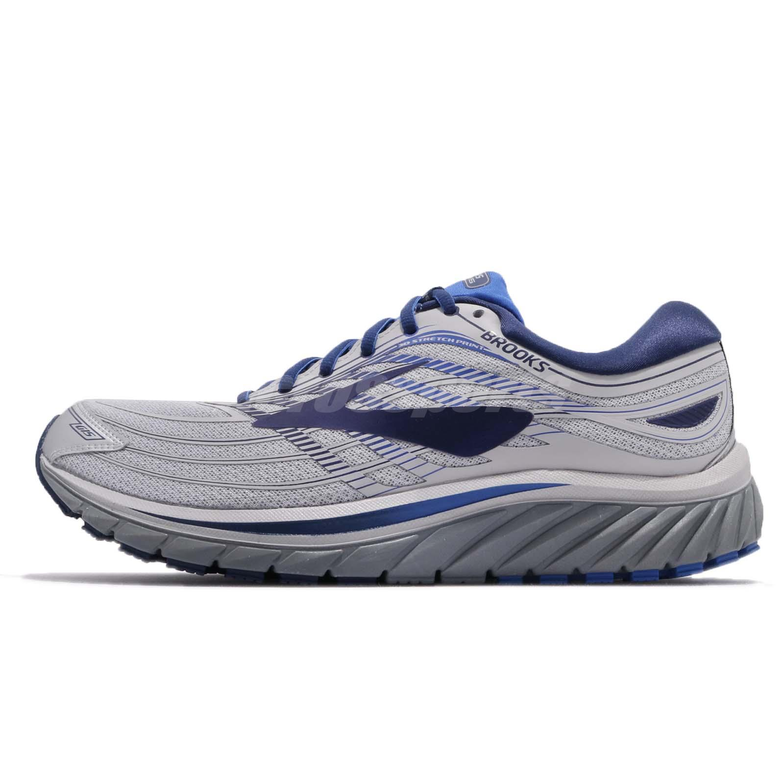 ea88f9895ce Brooks Glycerin 15 Silver Navy Blue Grey Men Running Shoes Sneakers 110258  1D
