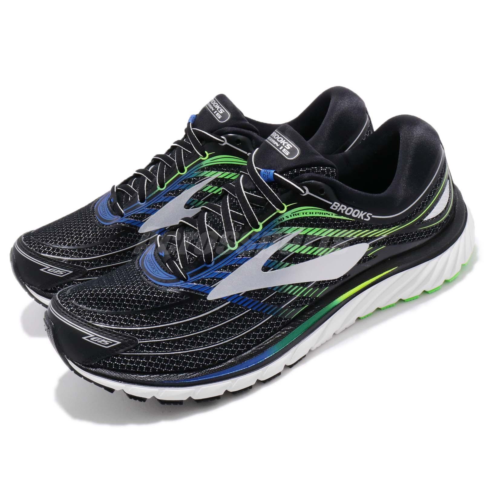 9c3240cd10ff2 Details about Brooks Glycerin 15 Desiree Linden 2E Wide Black Men Running  Sneaker 110258 2E