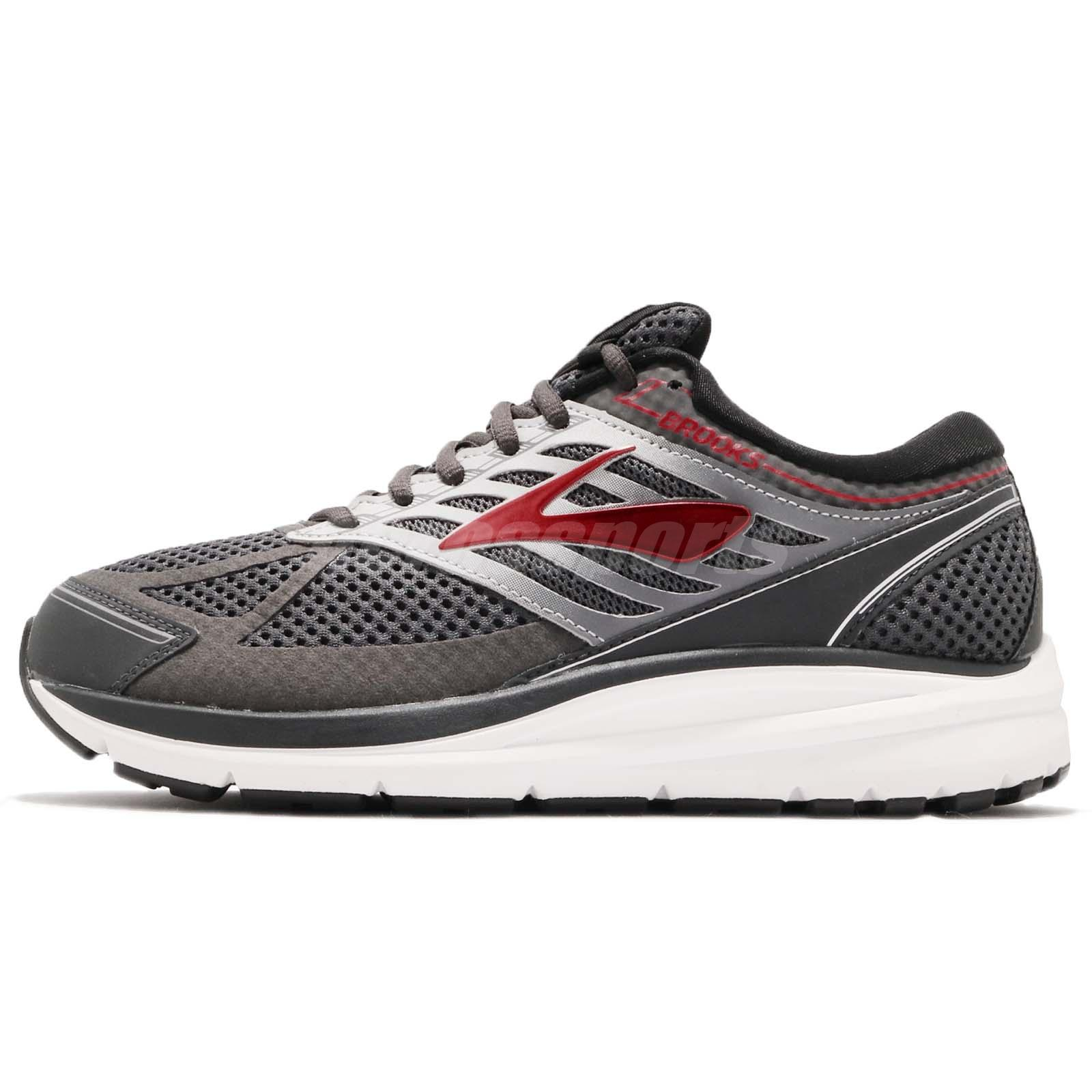 4e8b240e771 Brooks Addiction 13 4E Extra Wide Ebony Black Red Men Running Shoes 110261  4E