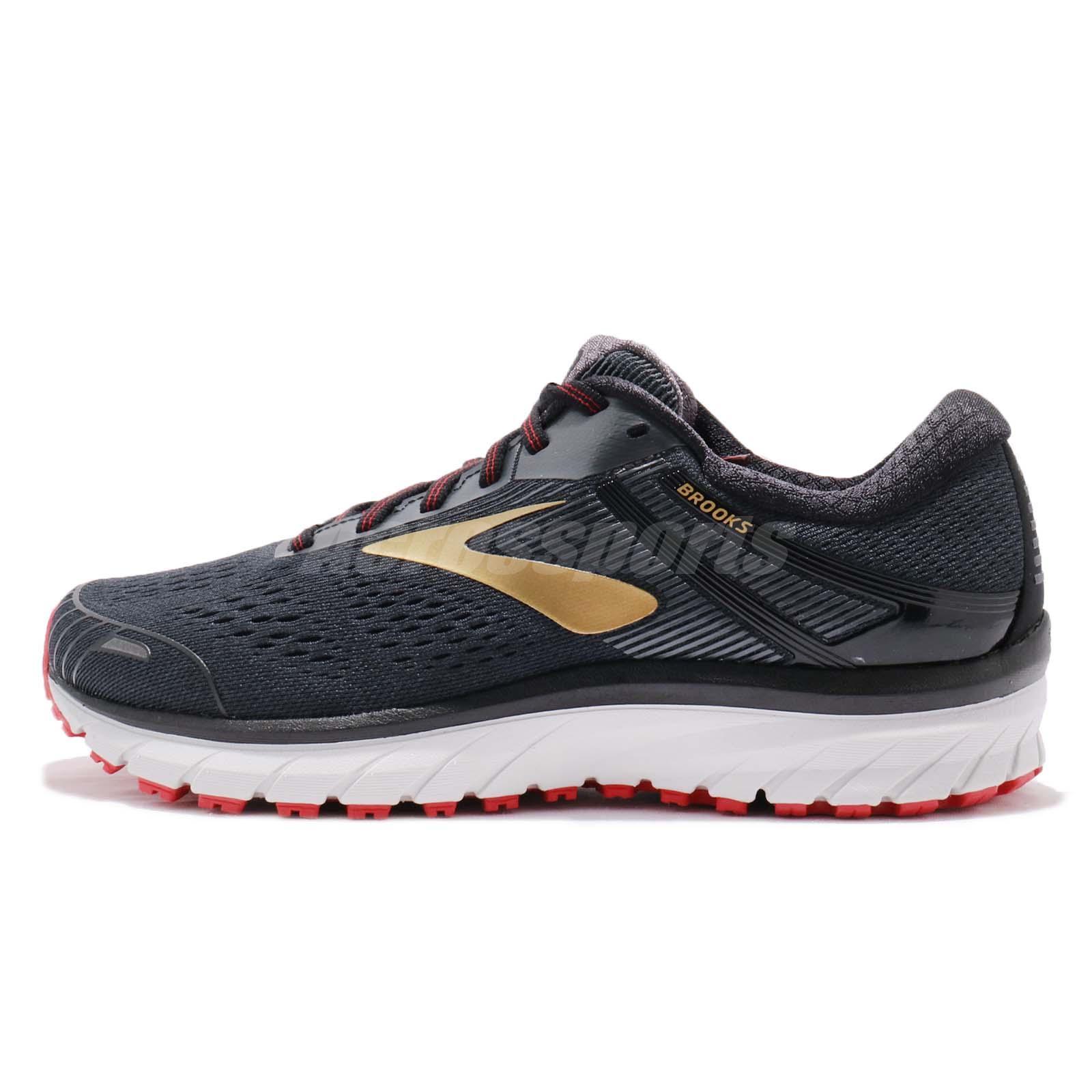 d969252e51d Brooks Adrenaline GTS 18 2E Wide Black Gold Red Men Running Shoes 110271 2E