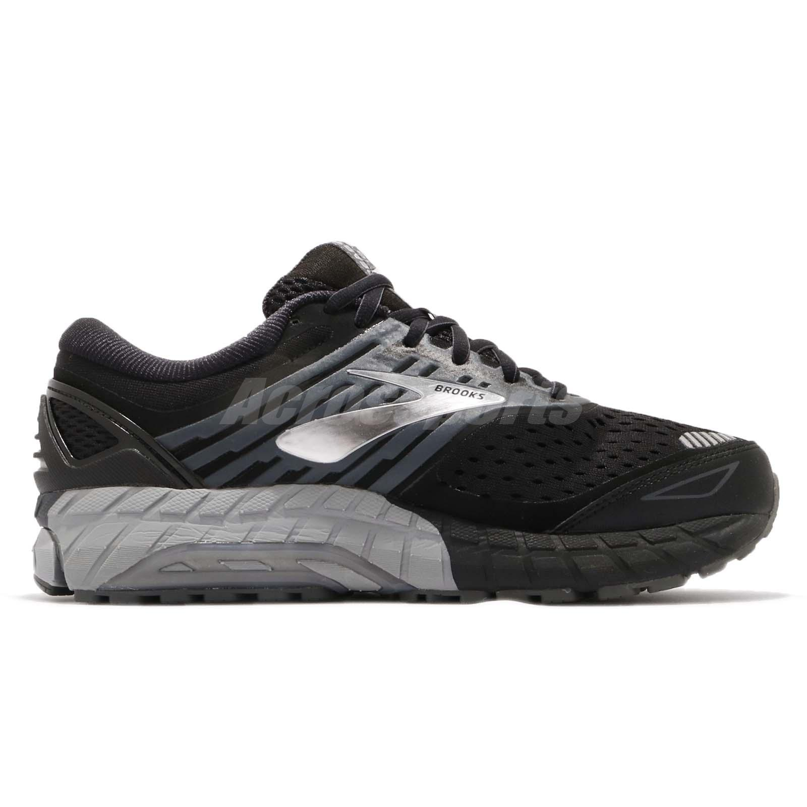 aae8860177109 Details about Brooks Beast 18 4E Extra Wide Black Grey Silver Men Running  Shoes 110282 4E