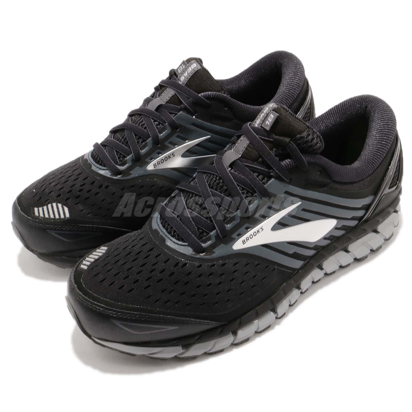 13f38e00f2659 Details about Brooks Beast 18 4E Extra Wide Black Grey Silver Men Running  Shoes 110282 4E