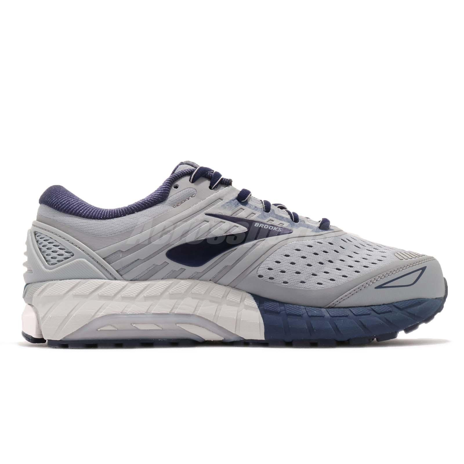 e06b267ee9c Brooks Beast 18 4E Extra Wide Grey Navy White Men Running Shoes ...