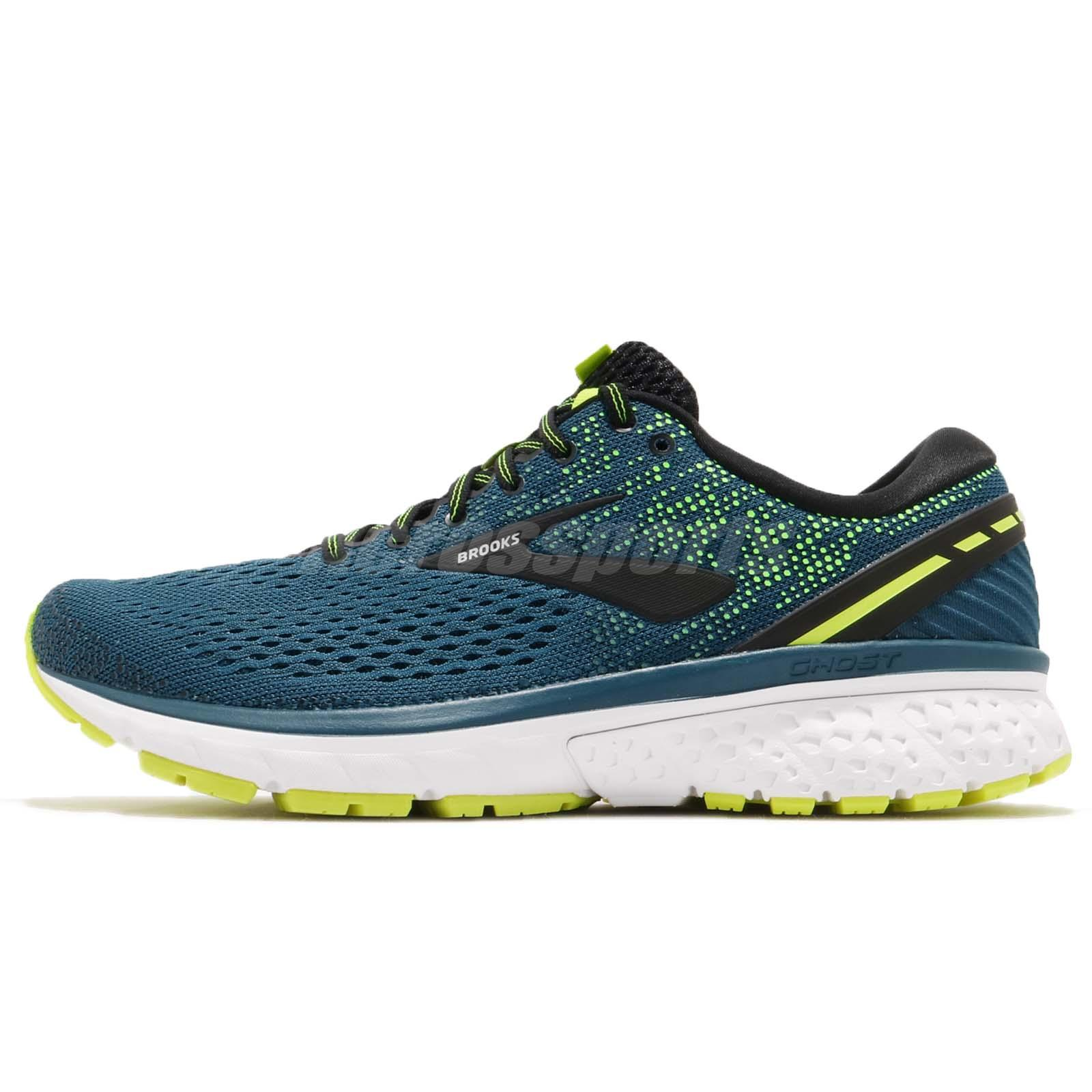 70be3e743a72d Brooks Ghost 11 Blue Black White Men Running Training Shoes Sneakers 110288  1D