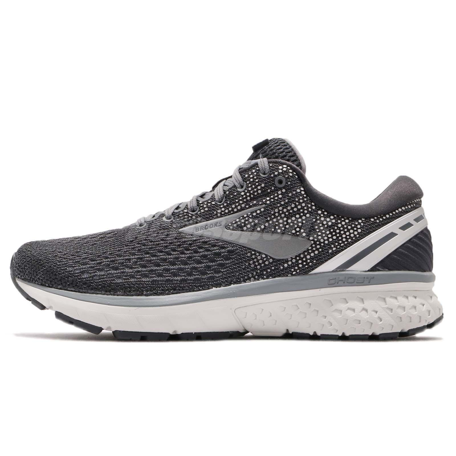 9d18feee4951b Details about Brooks Ghost 11 2E Wide Ebony Grey Silver Men Running Shoes  Sneakers 110288 2E