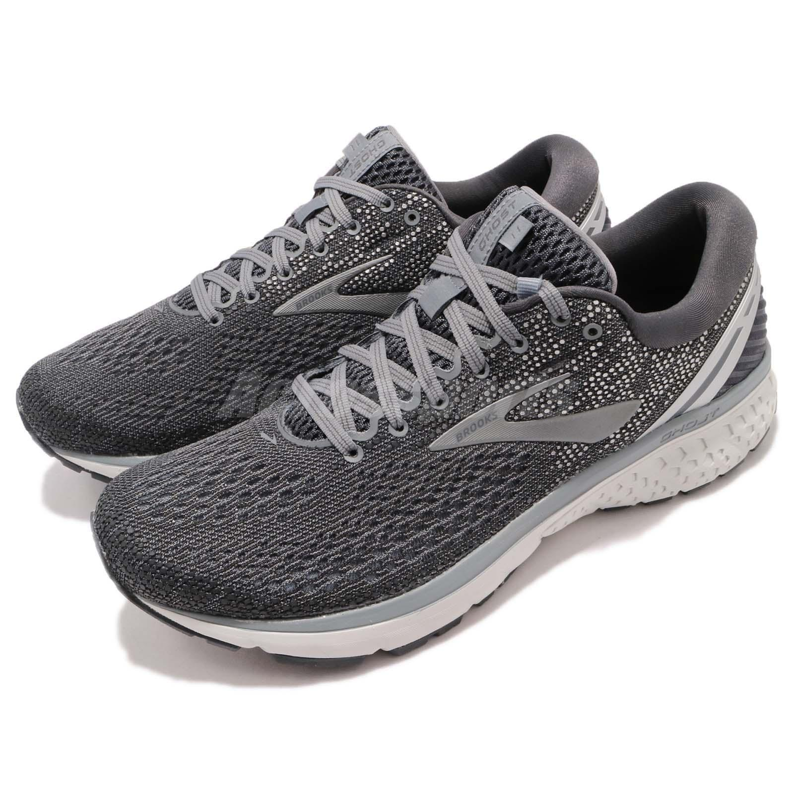 dcdfb6ce069 Details about Brooks Ghost 11 2E Wide Ebony Grey Silver Men Running Shoes  Sneakers 110288 2E