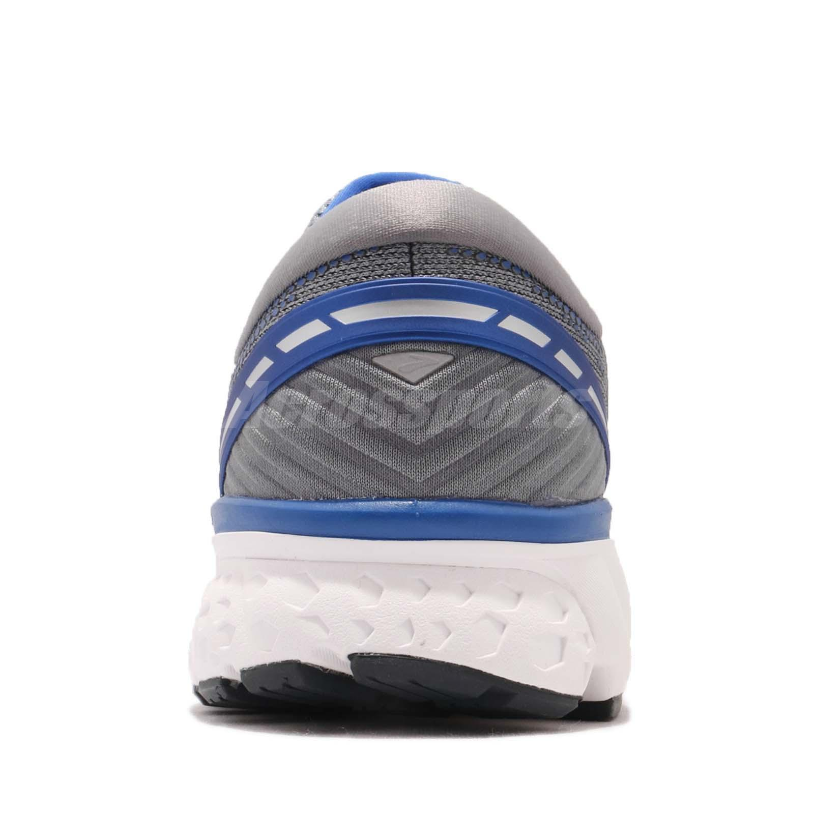 3632d9483df82 Brooks Ghost 11 4E Extra Wide Grey Blue Silver Men Running Shoes ...