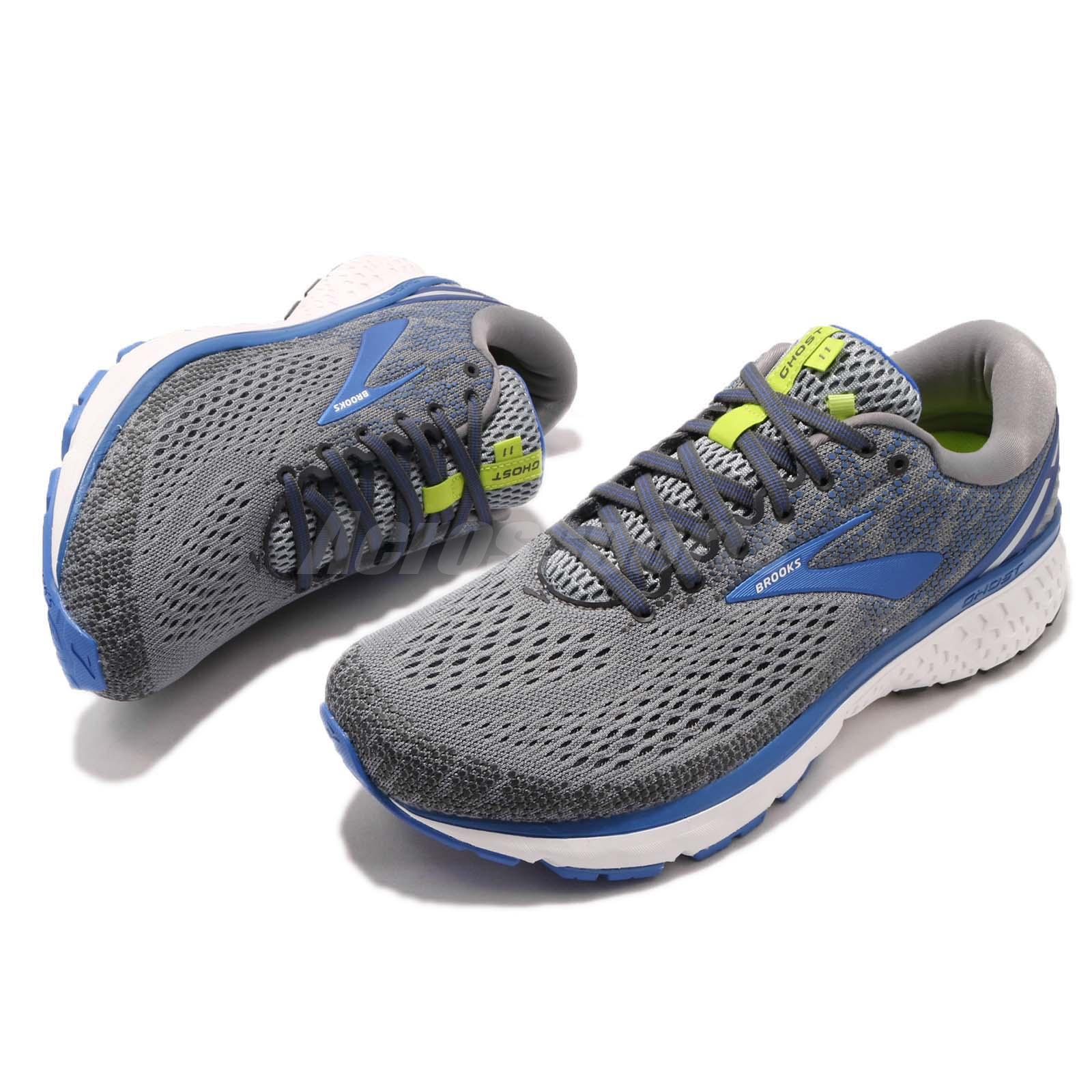 best service 069de 96cfd Brooks Ghost 11 4E Extra Wide Grey Blue Silver Men Running Shoes ...