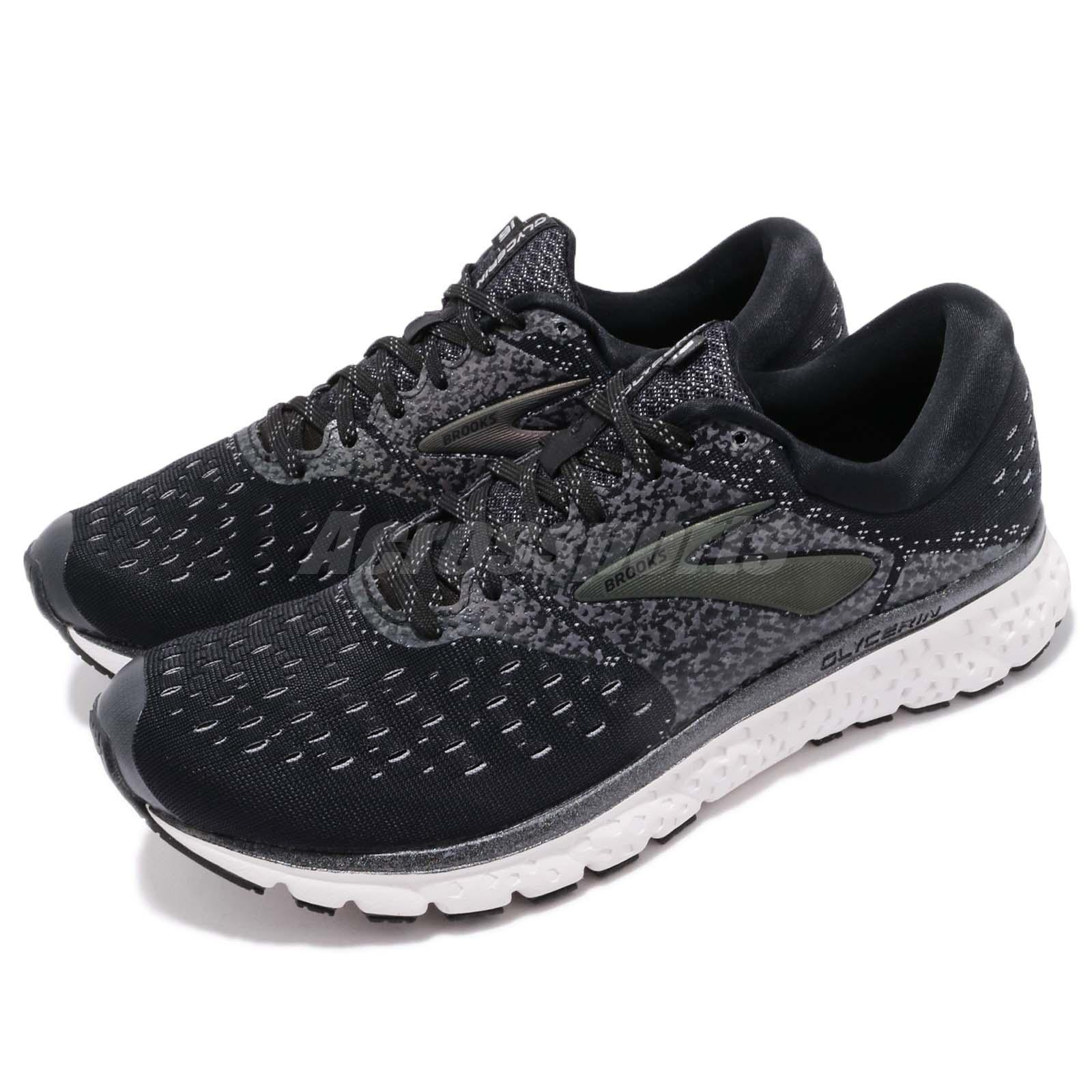 9e2632eb1bee0 Details about Brooks Glycerin 16 Reflective Black White Grey Men Running  Shoes 110289 1D