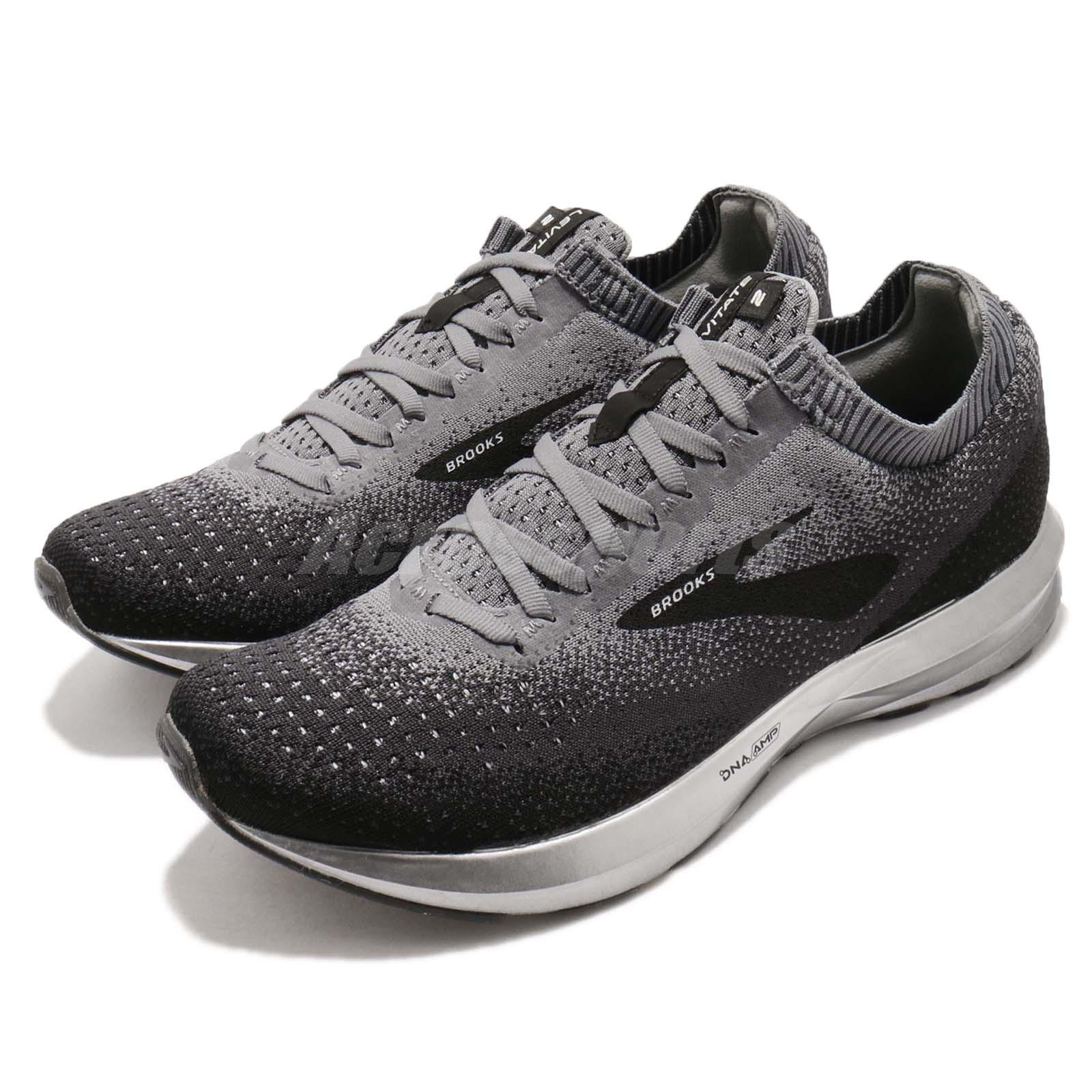 4a3f67db77401 Details about Brooks Levitate 2 Black Grey Ebony Silver Men Running Shoes  Sneakers 110290 1D