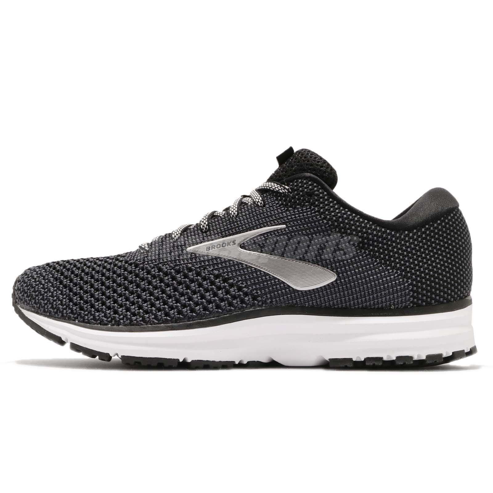 035aaaa54d9 Brooks Revel 2 Black Grey White Men Running Training Shoes Sneakers 110292  1D