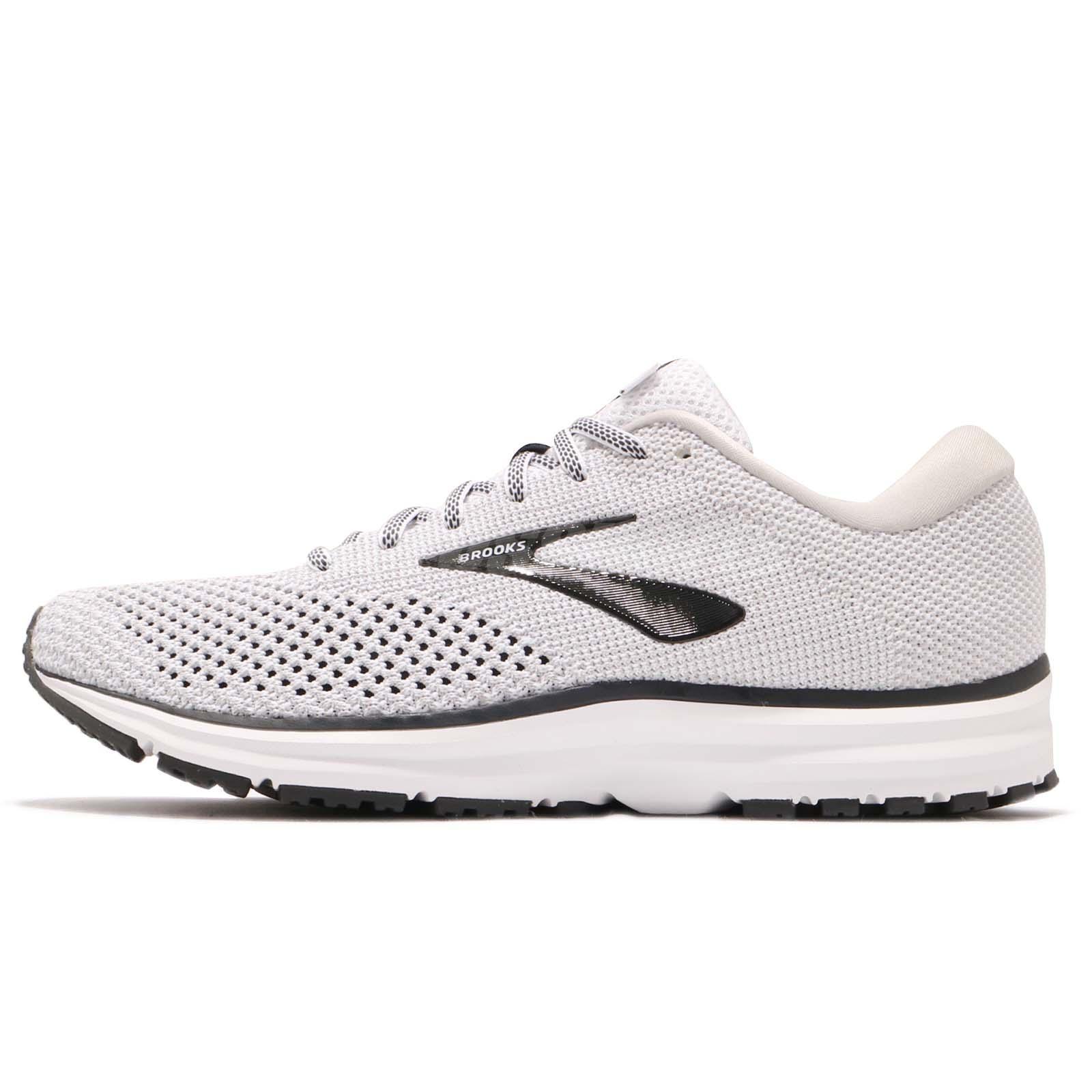 cb6bd7d04bb Brooks Revel 2 White Grey Black Men Running Training Shoes Sneakers 110292  1D