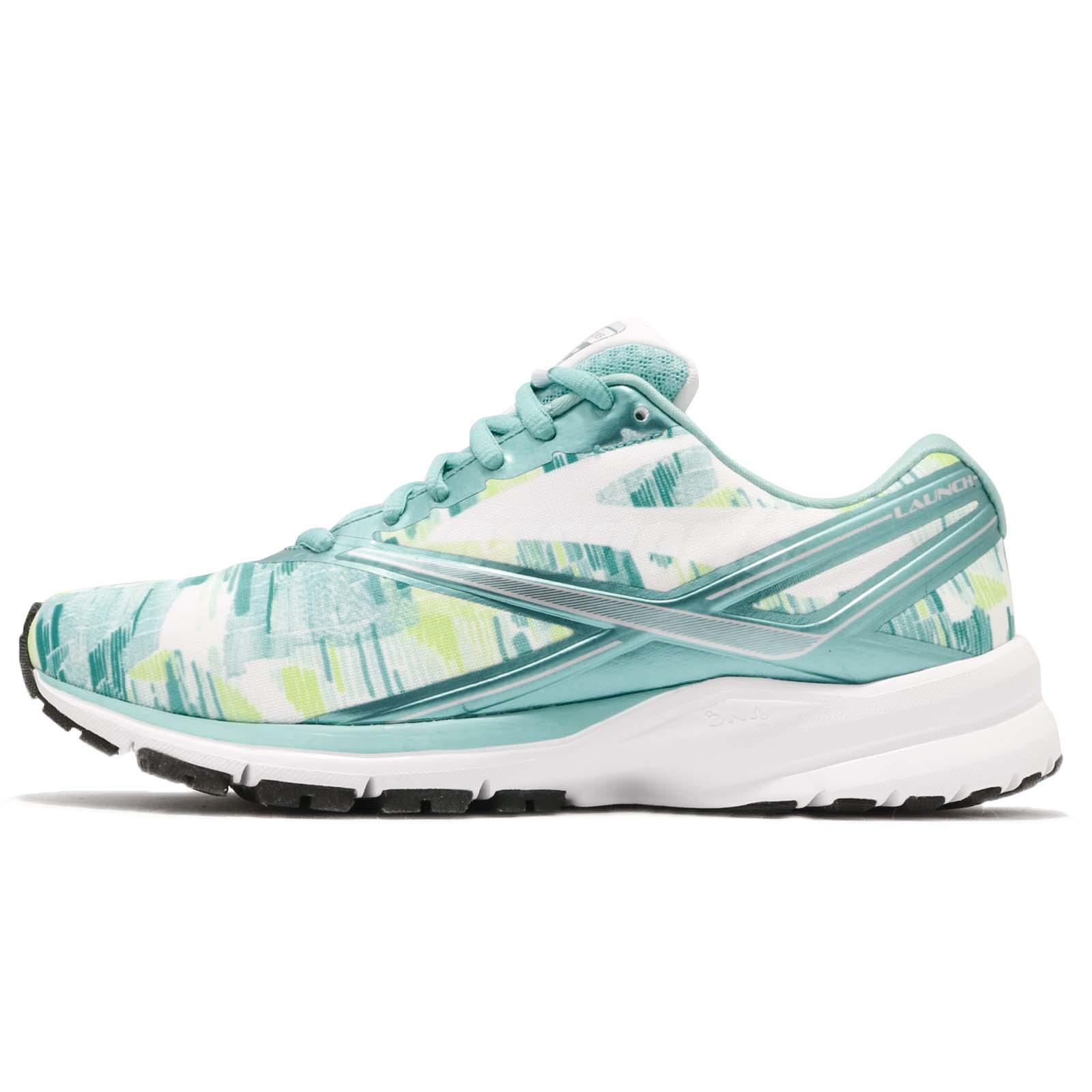 ae2667ecc79 Brooks Launch 4 Kasbah Blue Radiance White Women Running Shoes Sneaker  120234 1B