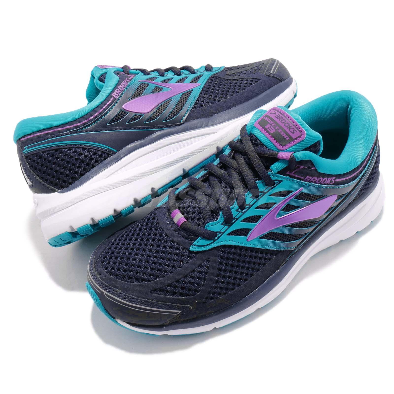 a6d336ce949 Details about Brooks Addiction 13 2E Extra Wide Blue Navy Purple Women  Running Shoes 120253 2E