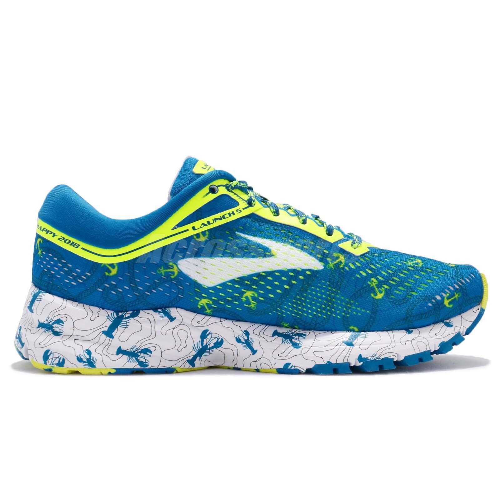 70bc786fbfd Brooks Launch 5 Boston Marathon Lobster Blue Volt Women Running ...