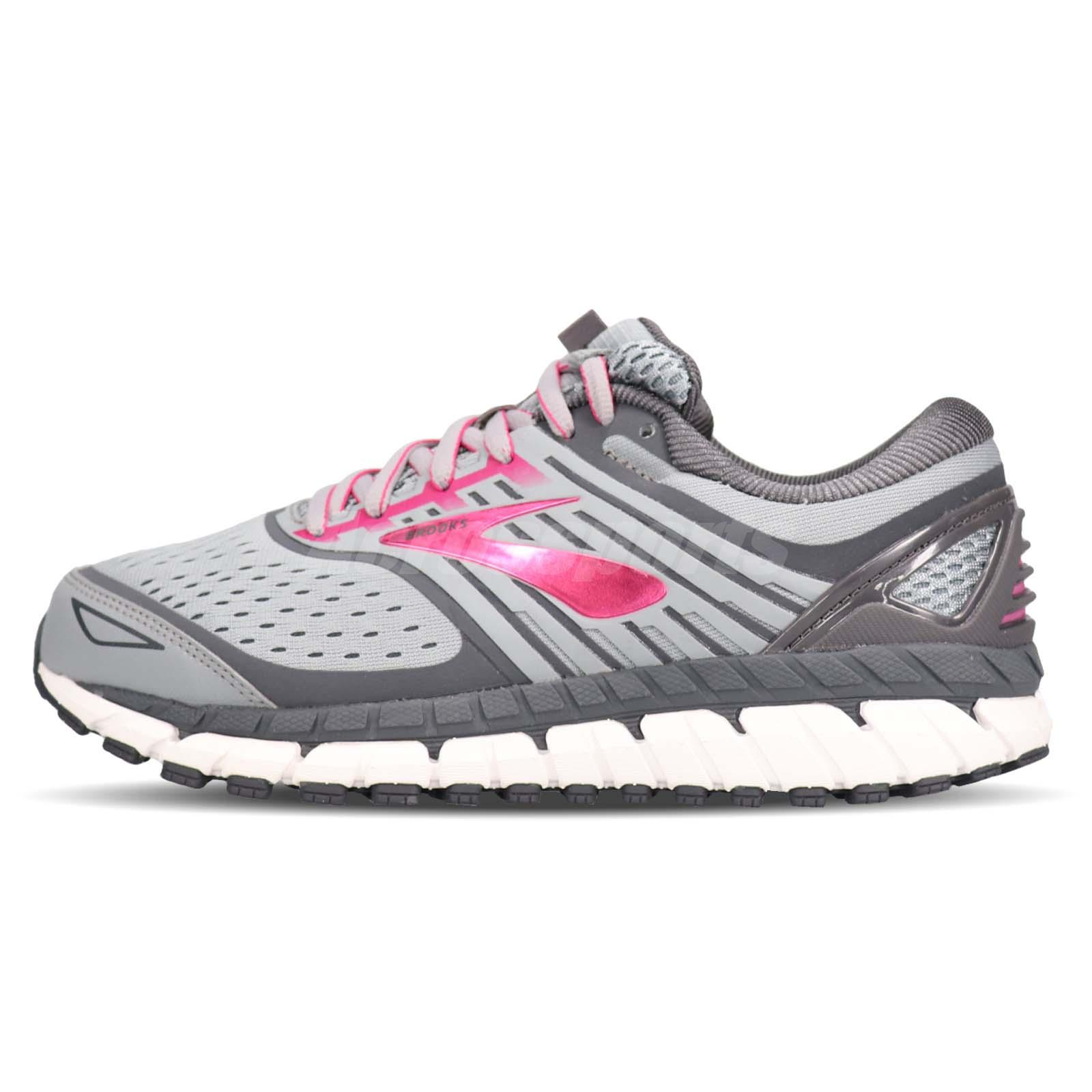 more photos c16c4 49459 Details about Brooks Ariel 18 2E Extra Wide Grey Pink Women Running Shoes  Sneakers 120271 2E