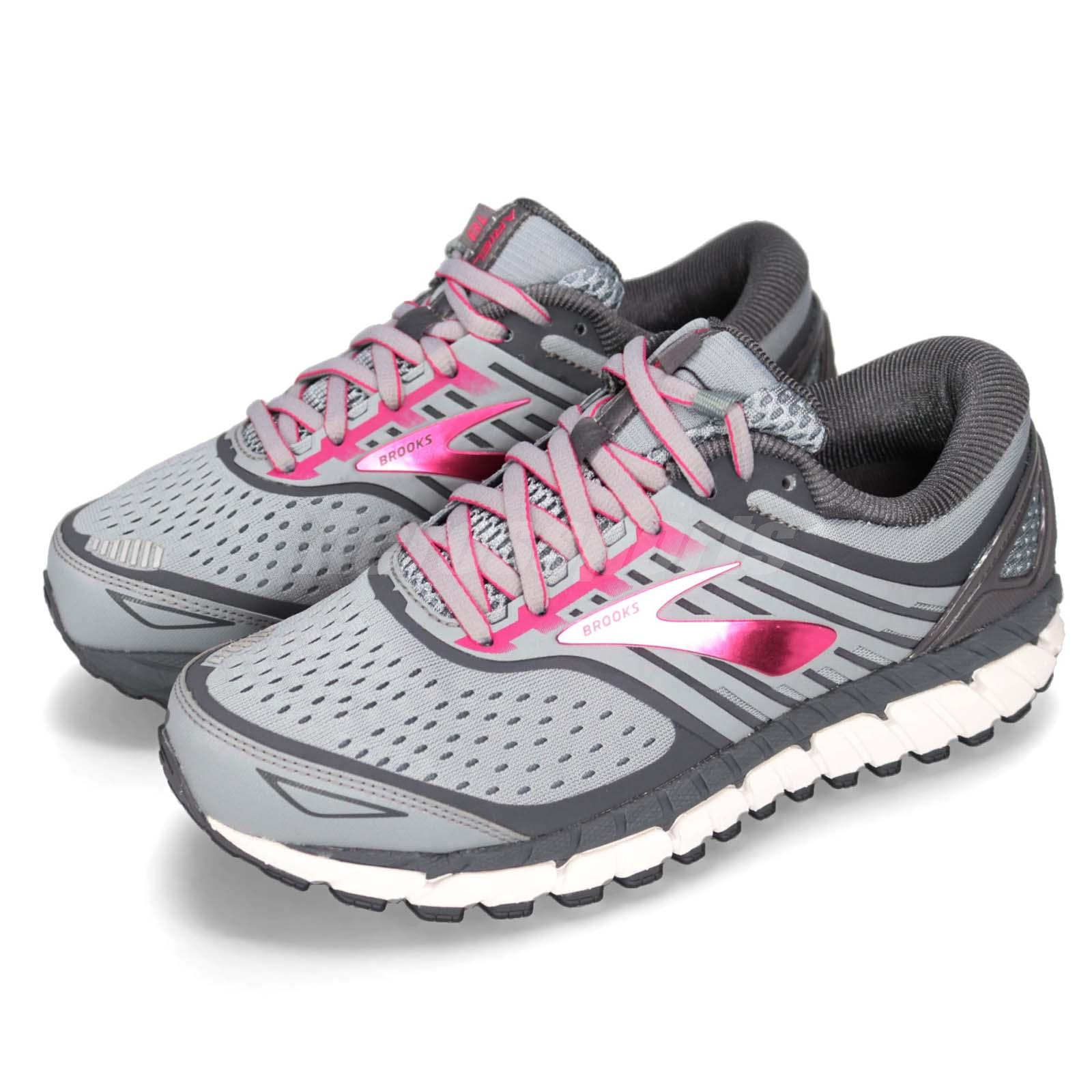 337b58dd4ee Details about Brooks Ariel 18 Grey Pink Women Running Training Shoes  Sneakers 120271 2E