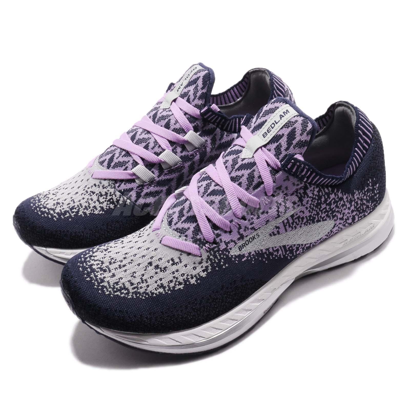 63d728a7fef77 Brooks Bedlam Purple Navy Grey Women Running Training Shoes Sneakers ...