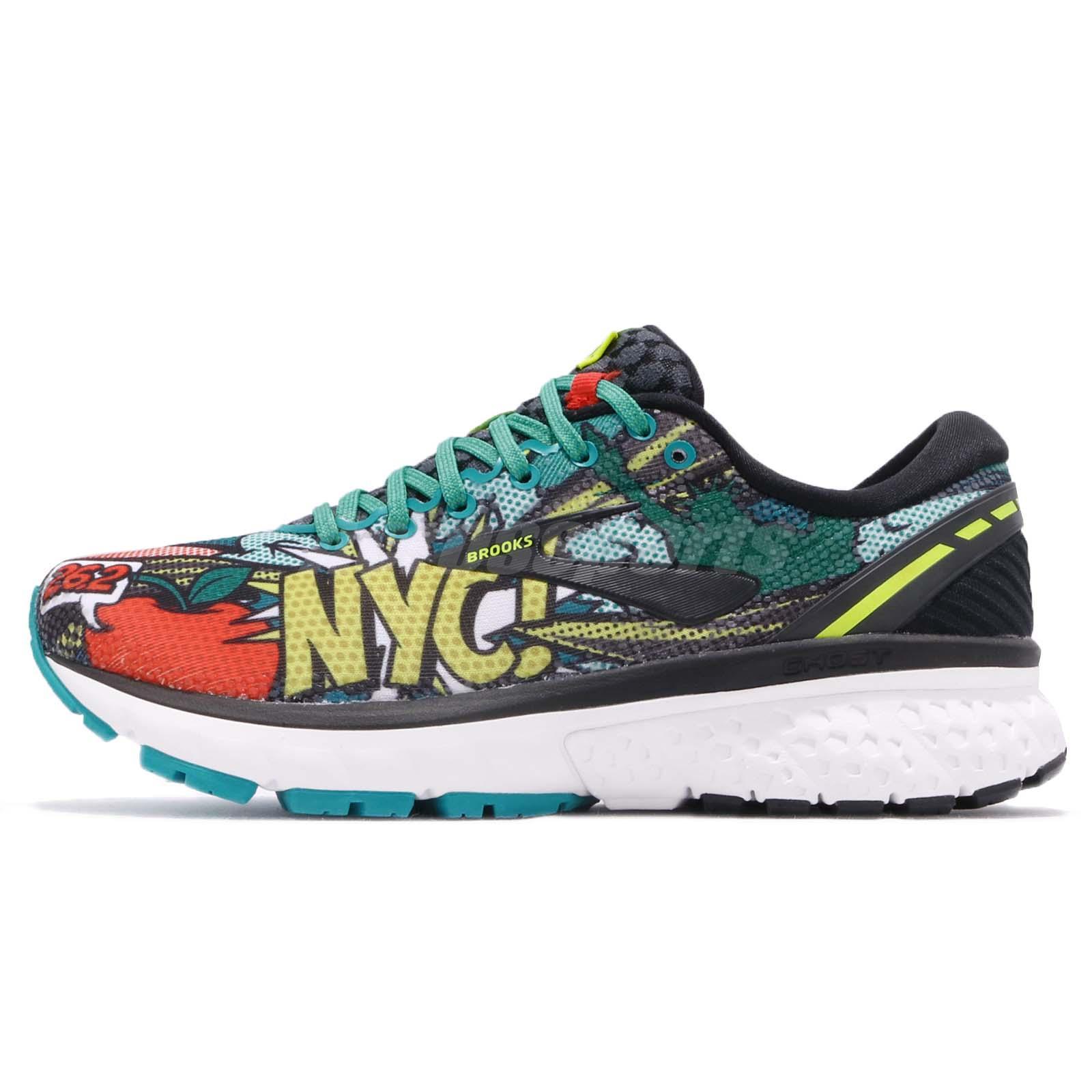 d2c8c95ee46 Brooks Ghost 11 New York Marathon Black Pop Art Women Running Shoes 120277  1B