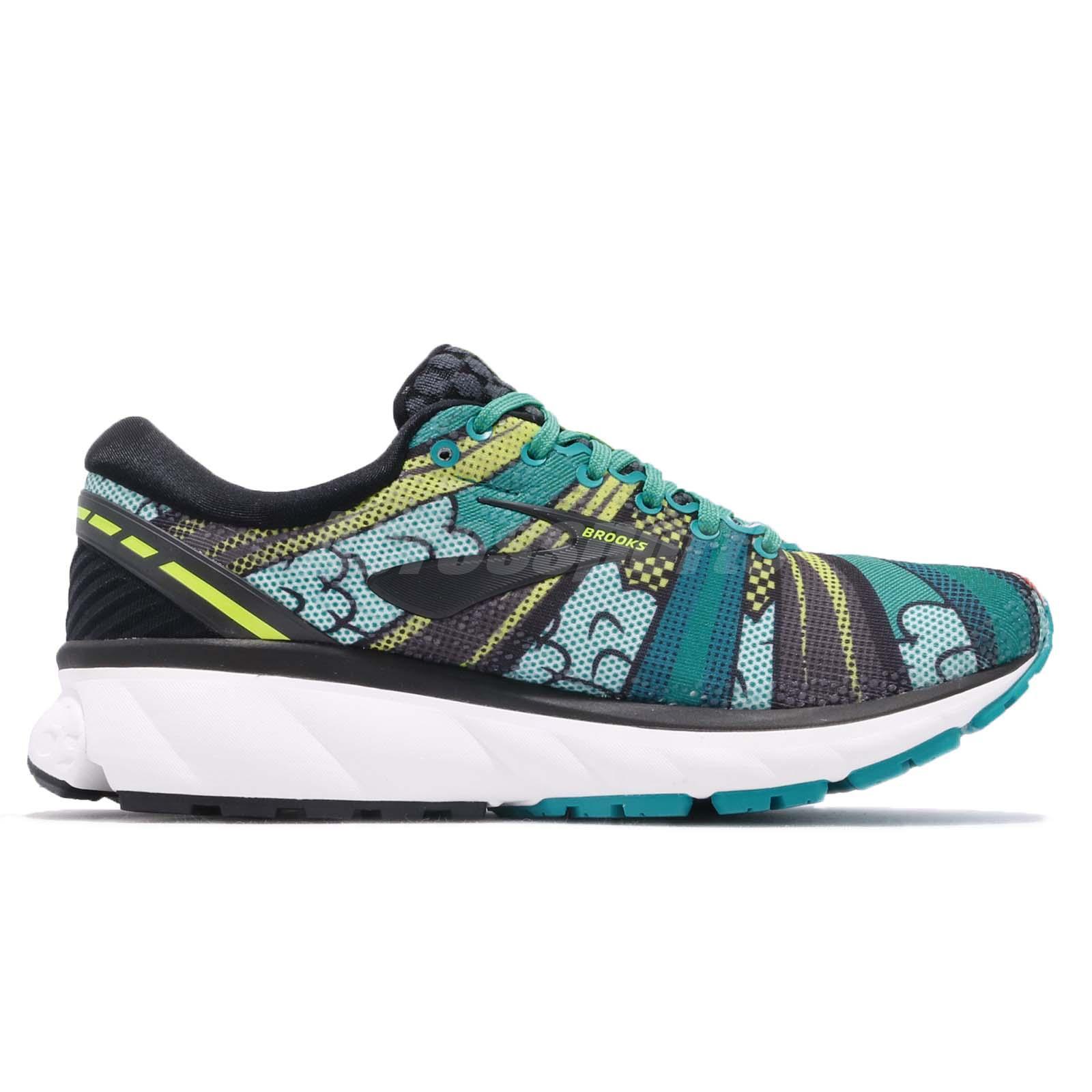 5febeef85e7 Brooks Ghost 11 New York Marathon Black Pop Art Women Running Shoes ...