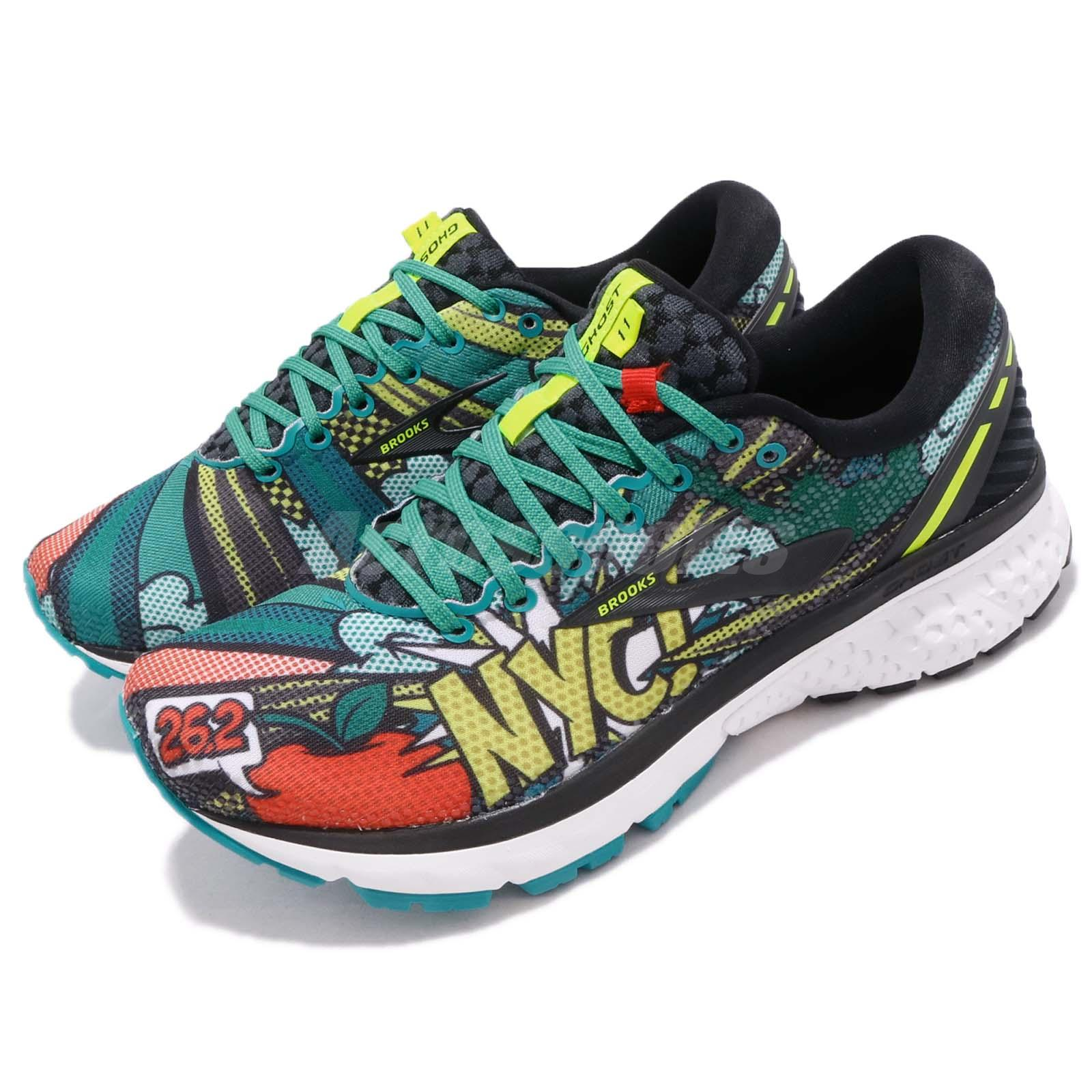 1d599b4d8bd Details about Brooks Ghost 11 New York Marathon Black Pop Art Women Running  Shoes 120277 1B