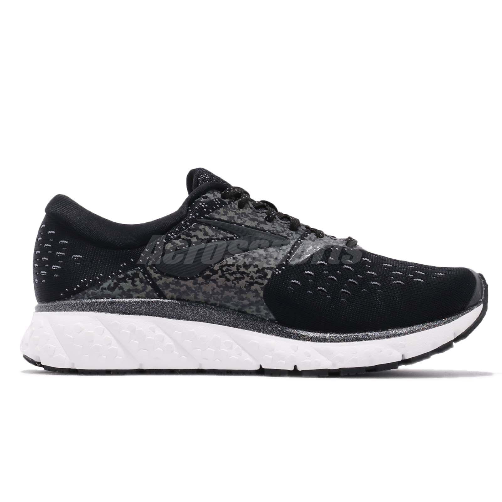 8056e52a2f941 Brooks Glycerin 16 Reflective Black White Grey Women Running Shoes ...