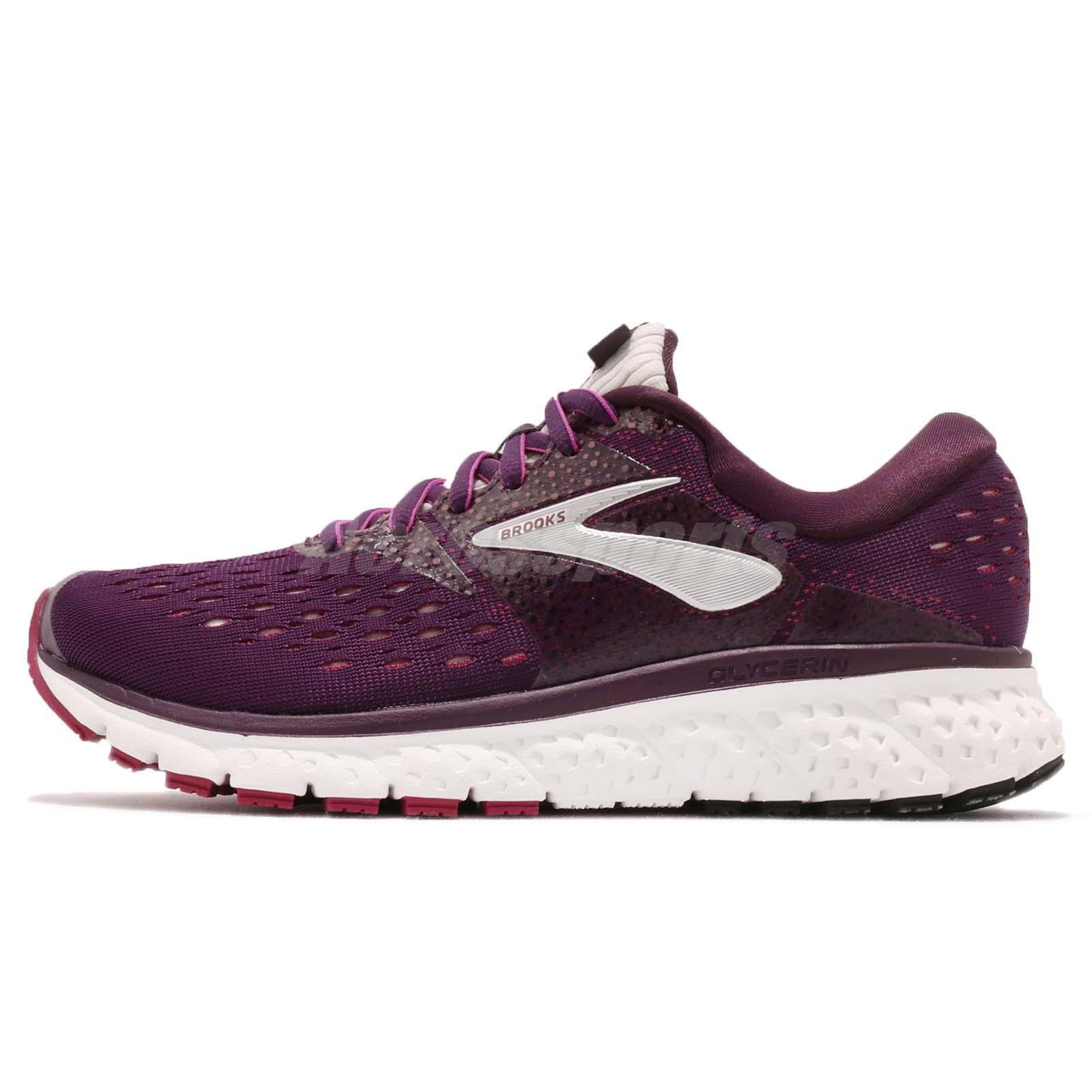 NIB Brooks 120278 Women/'s Glycerin 16 Purple//Pink//Grey Running Shoes
