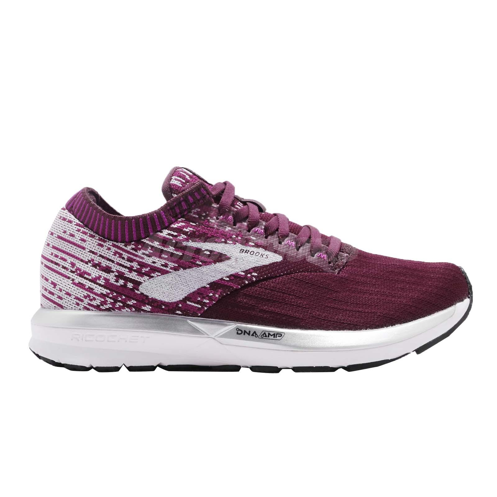 8987c1fec483b Brooks Ricochet Fig Wild Aster Grey Women Running Shoes Sneakers ...