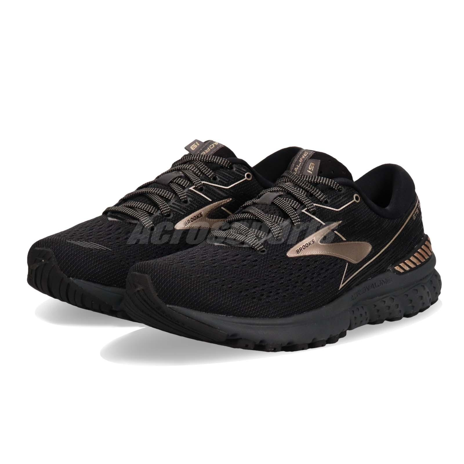 27e1a909d07 Details about Brooks Adrenaline GTS 19 Black Champagne Women Running Shoes  Sneakers 120284 1B