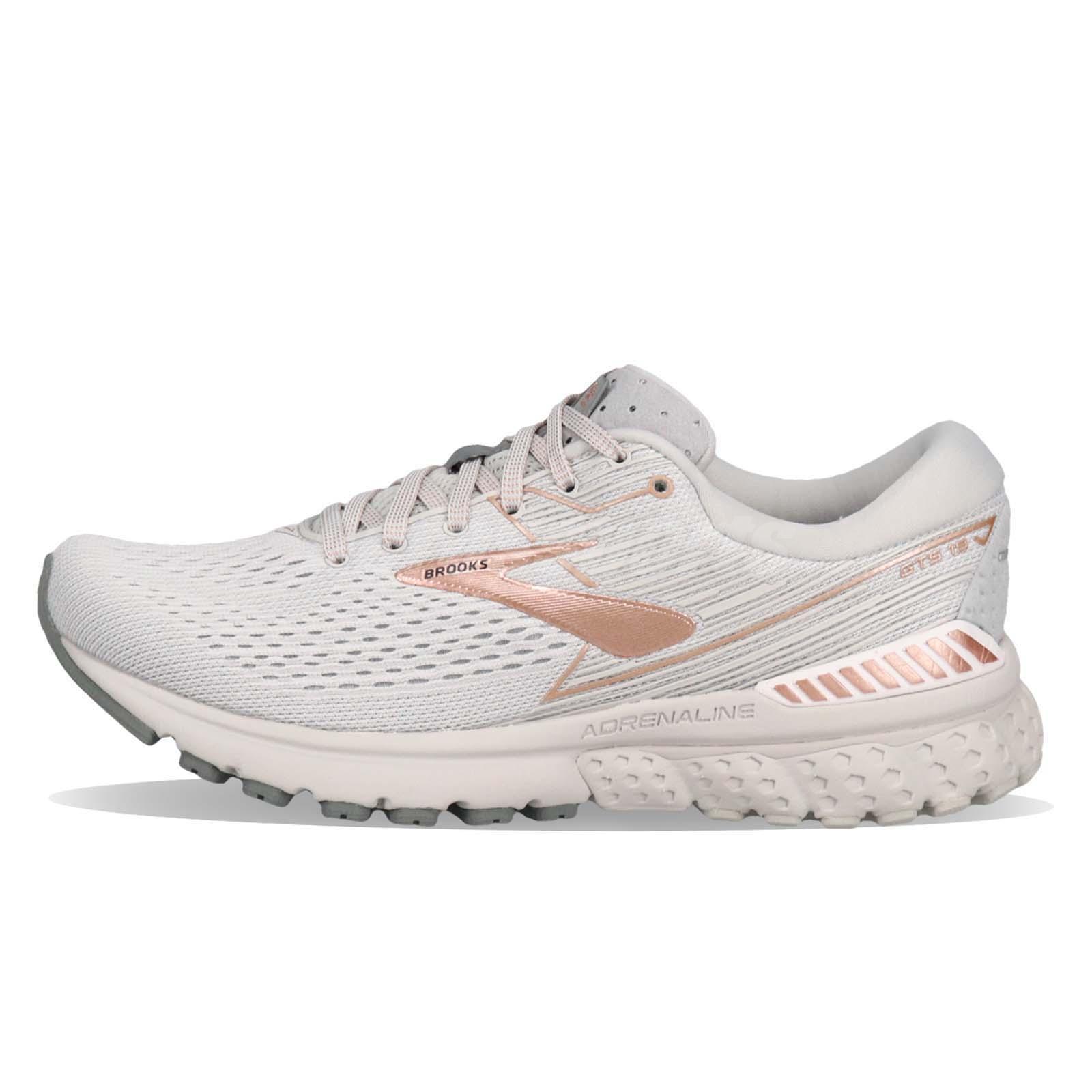 d4dc38c0c485a Brooks Adrenaline GTS 19 Grey Copper White Women Running Shoes Sneaker  120284 1B