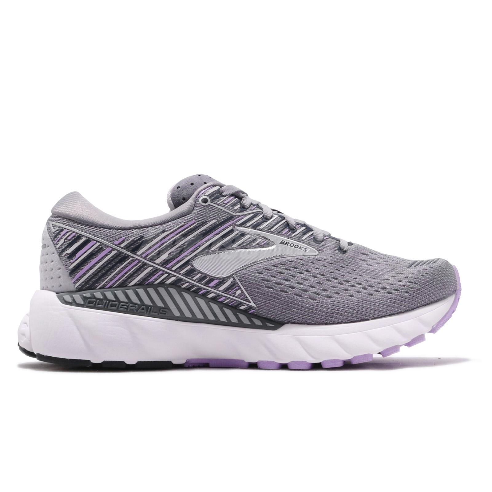 ed74102cf Brooks Adrenaline GTS 19 D Wide Grey Lavender Navy Women Running ...